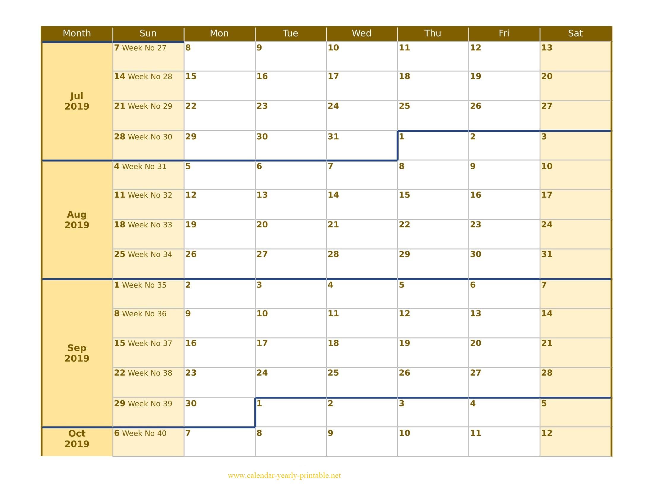 9 Plus Free Weekly Calendar - Calendar Yearly Printable in 1 Week Menu Calendar Template