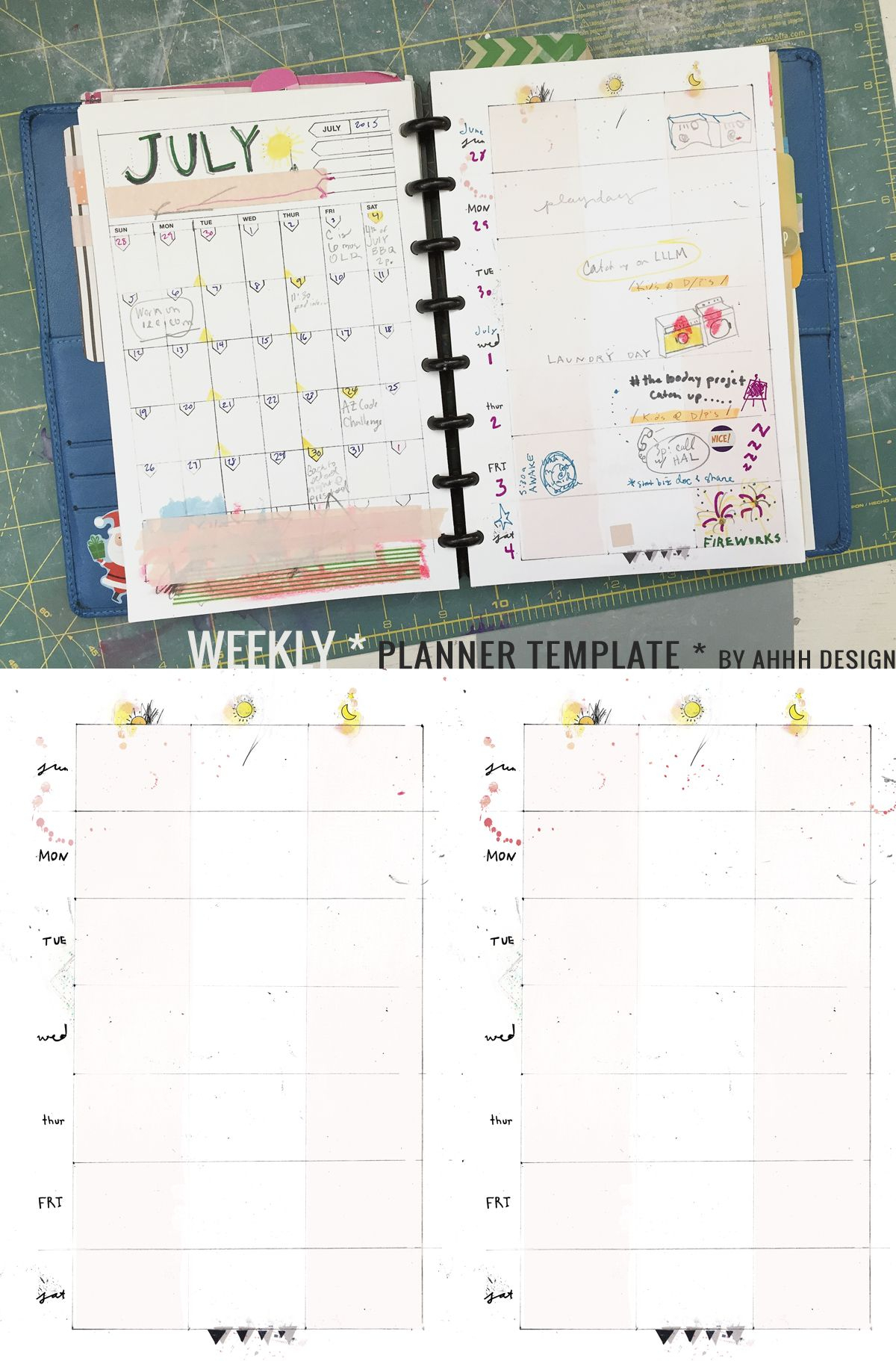 A Messy Week | Printables And Planners | Planner Template, Weekly intended for 10 X 8 Planner Template