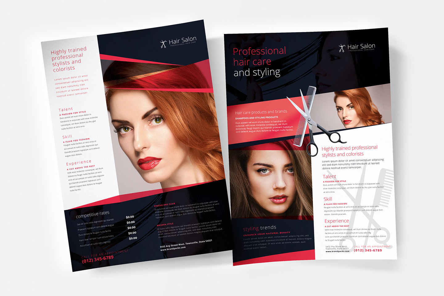 A4 Hair Salon Poster Template In Psd, Ai & Vector - Brandpacks pertaining to Hair Appointment Schedule Template