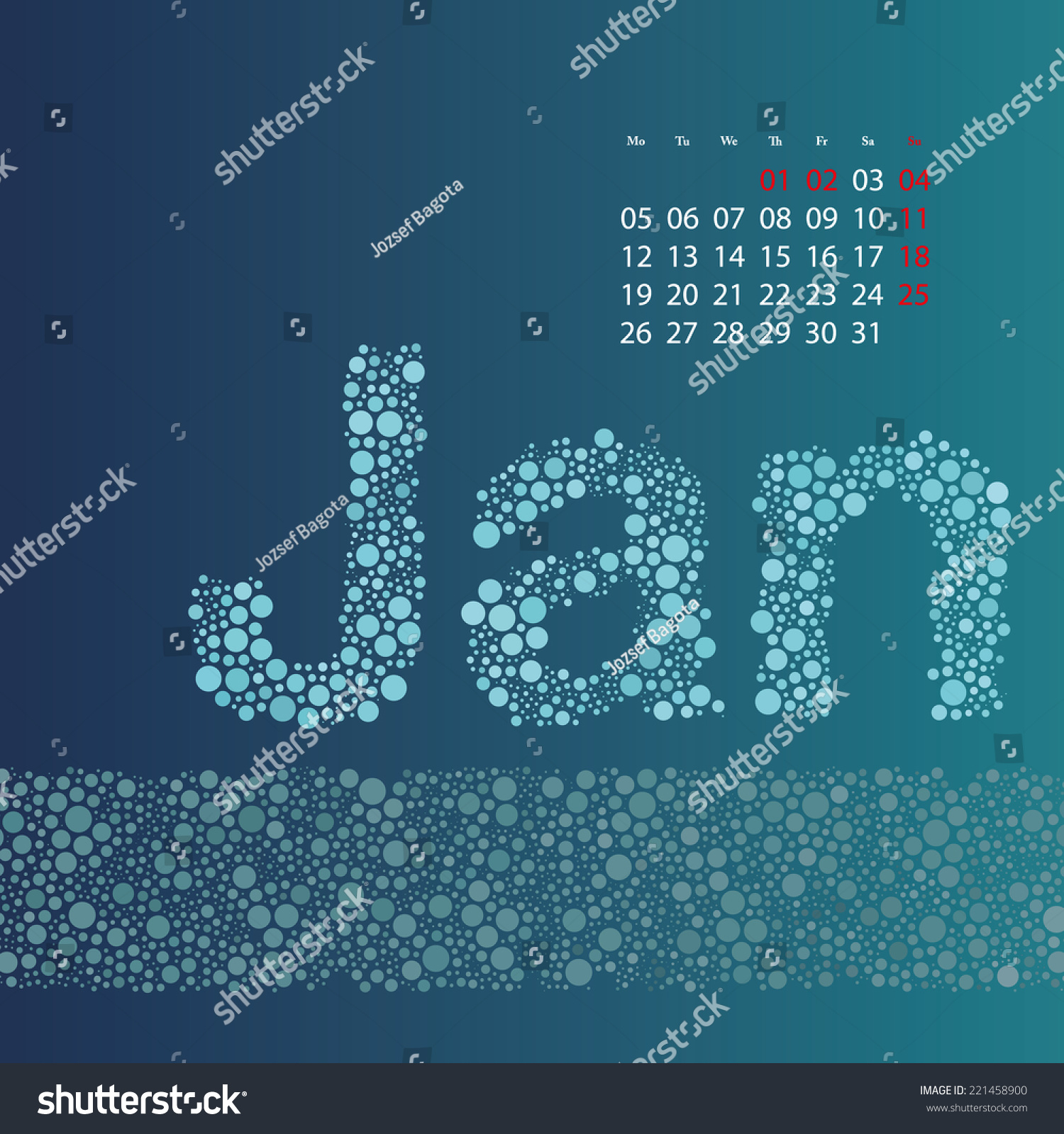 Abstract Dotted Monthly Calendar Design Elements Stock Vector pertaining to Monthly Calendar Template Clip Art