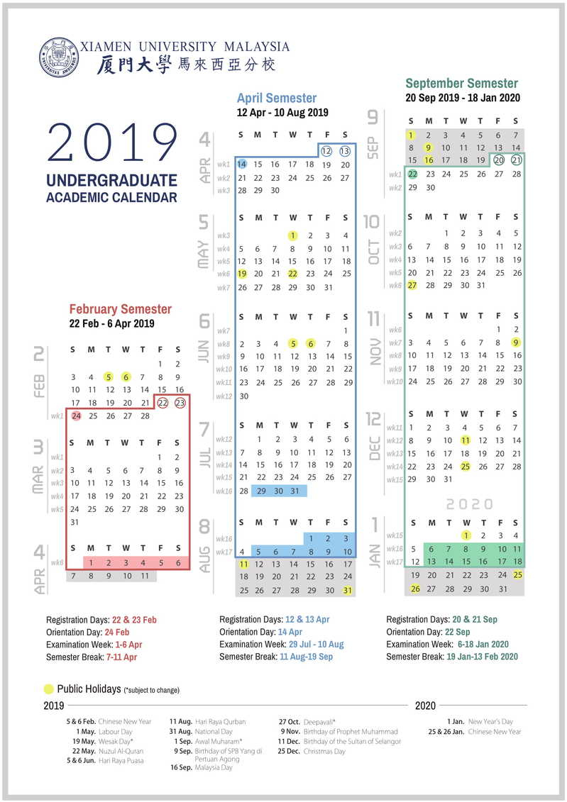 Academic Calendar & Courses with U Of M 2019 2020 Calendar