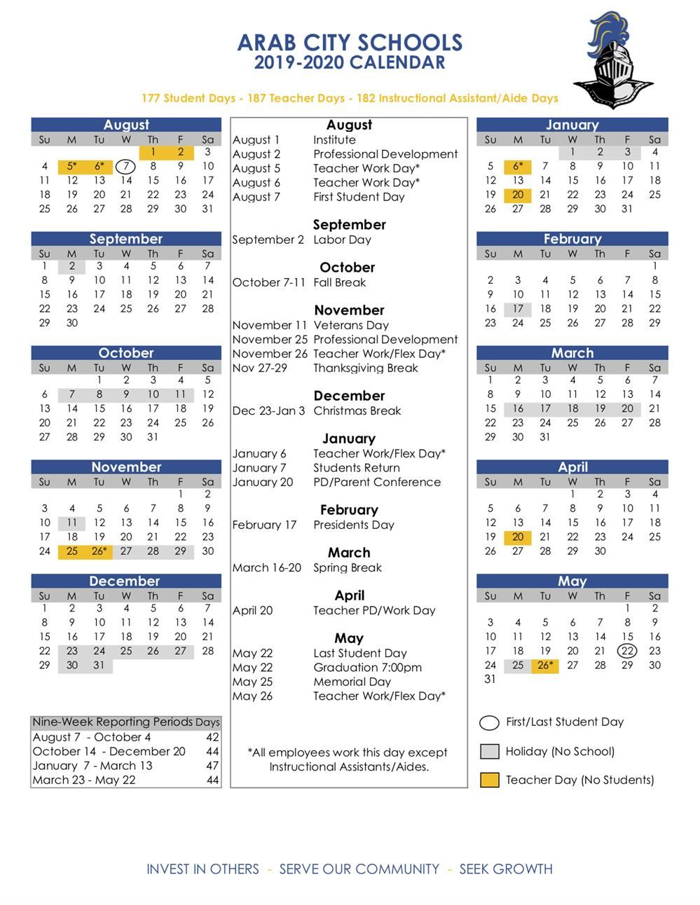 Academic Calendars / 2019-20 Acs Calendar intended for Ewish Calendar 2019 - 2020
