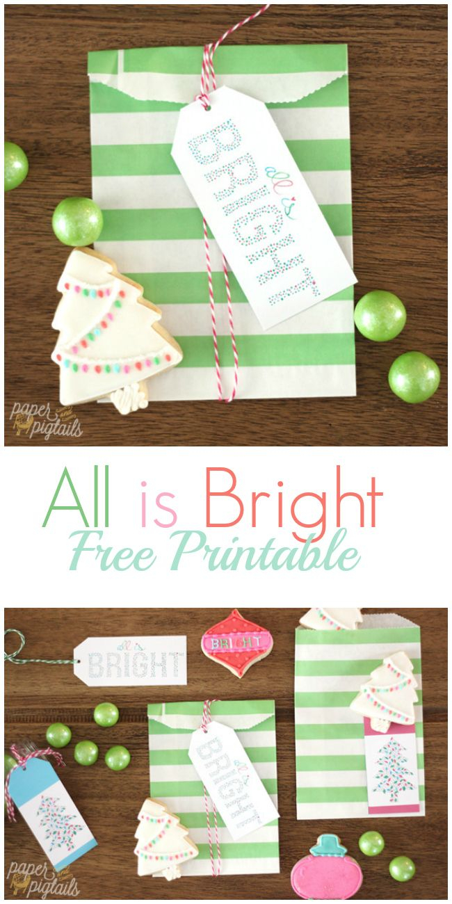 All Is Bright Printable Christmastags | Holiday Crafts With Joann pertaining to Printable Christmas Tree Templates 3D