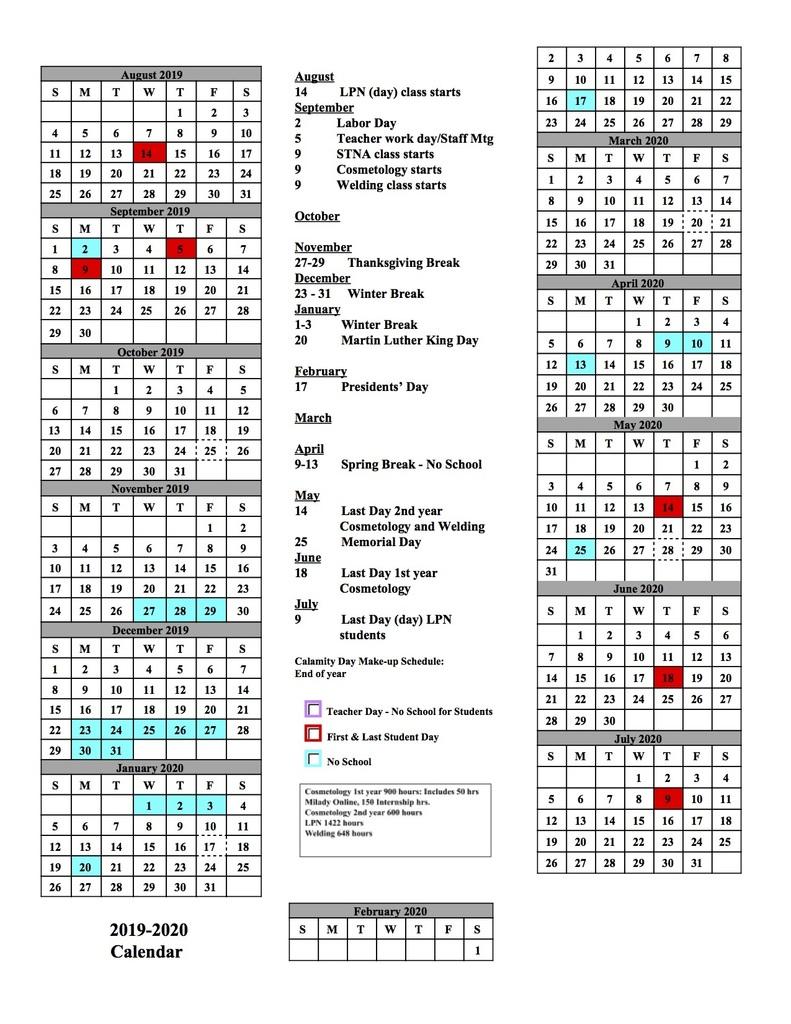 Alliance City School District inside Stephen F Austin 2019 2020 Calendar