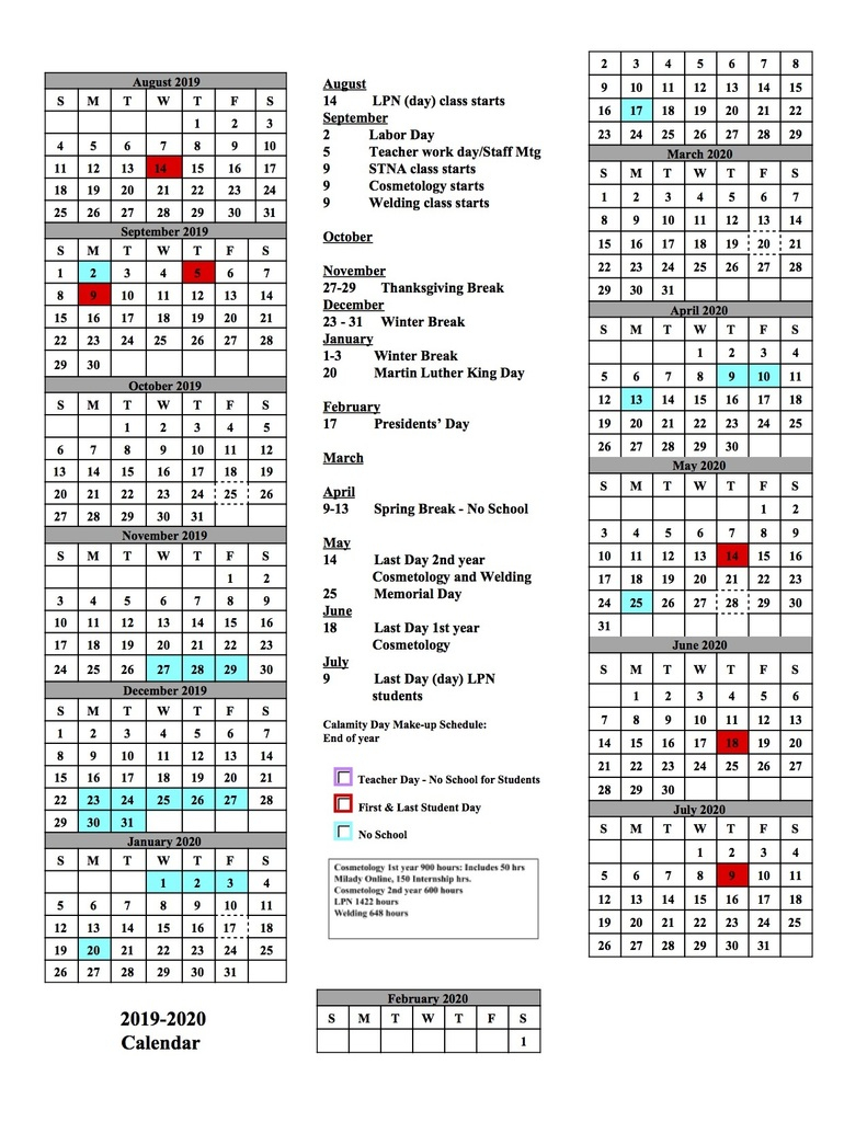 Alliance City School District with regard to Stephen F Austin Calendar 2019 - 2020