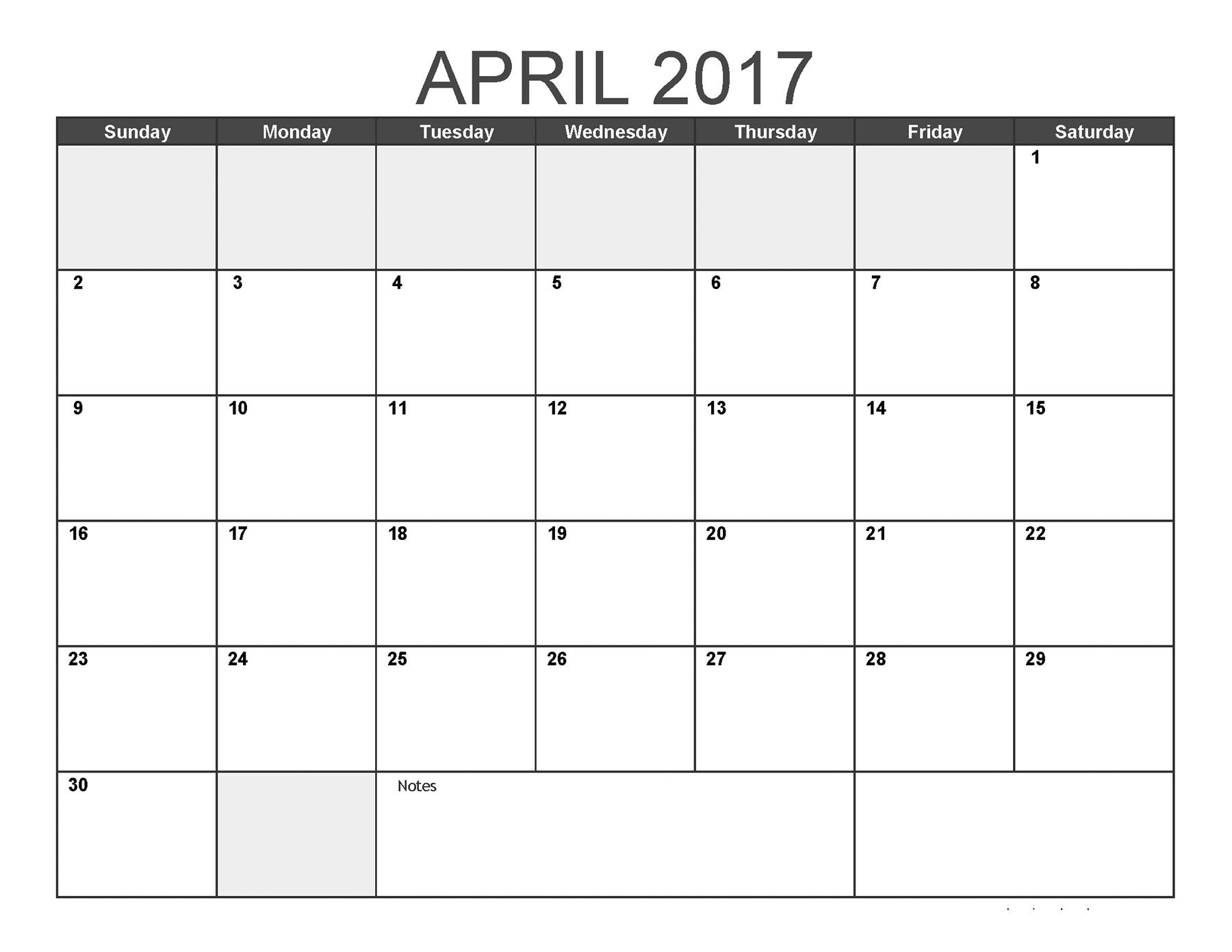 April 2017 Calendar - Printable April 2017 Calendar Templates #april2017 regarding Monthly Calendar Template Novb