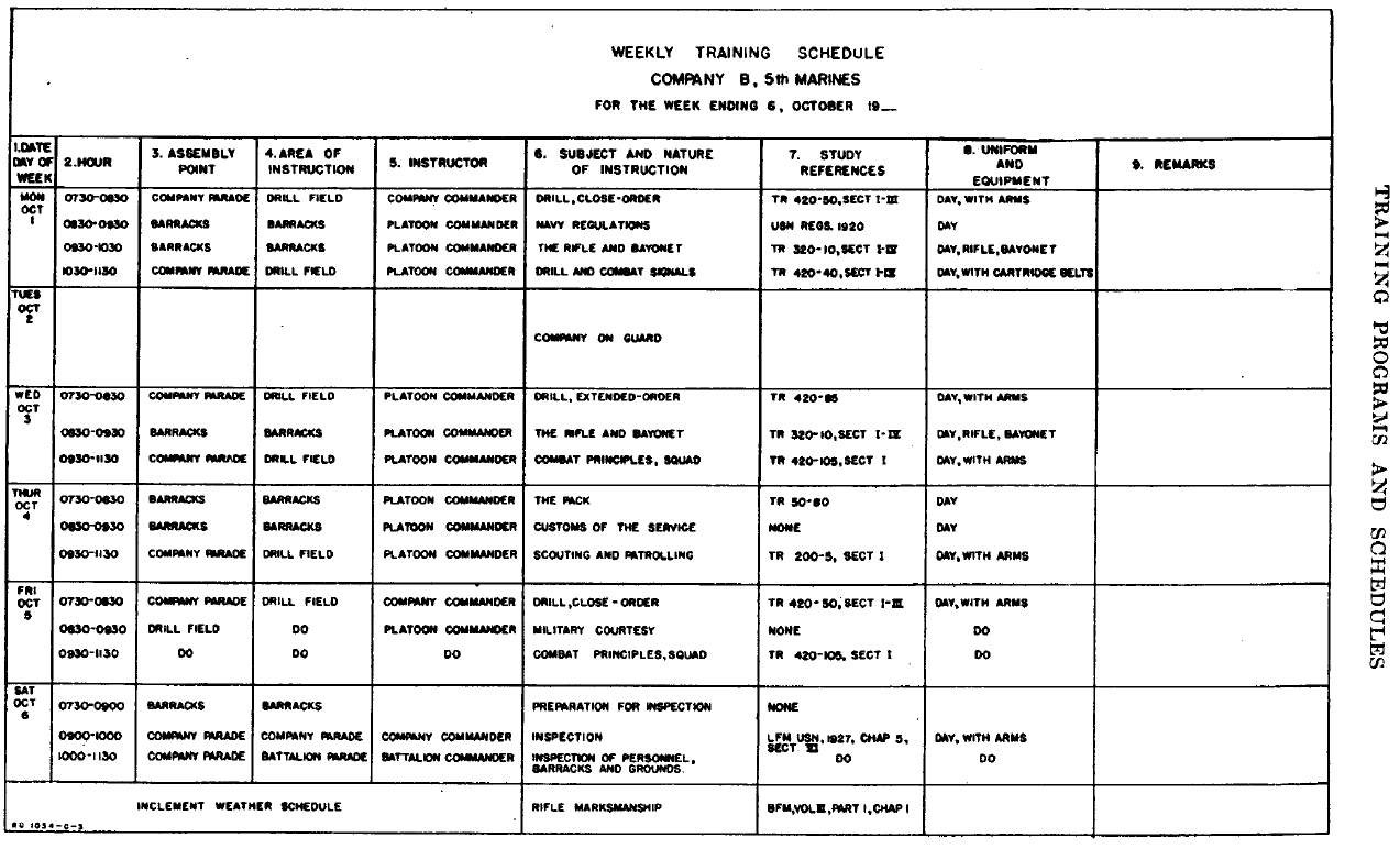 Army Training Schedule Example 138924 For Army Training Calendar intended for 30 Day Workout Calendar Template