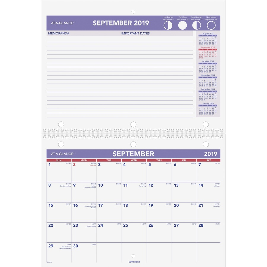 At-A-Glance Academic Monthly Wall Calendar - Yes - Monthly - 1.3 within 2029 2020 Year At A Gllance Calendar