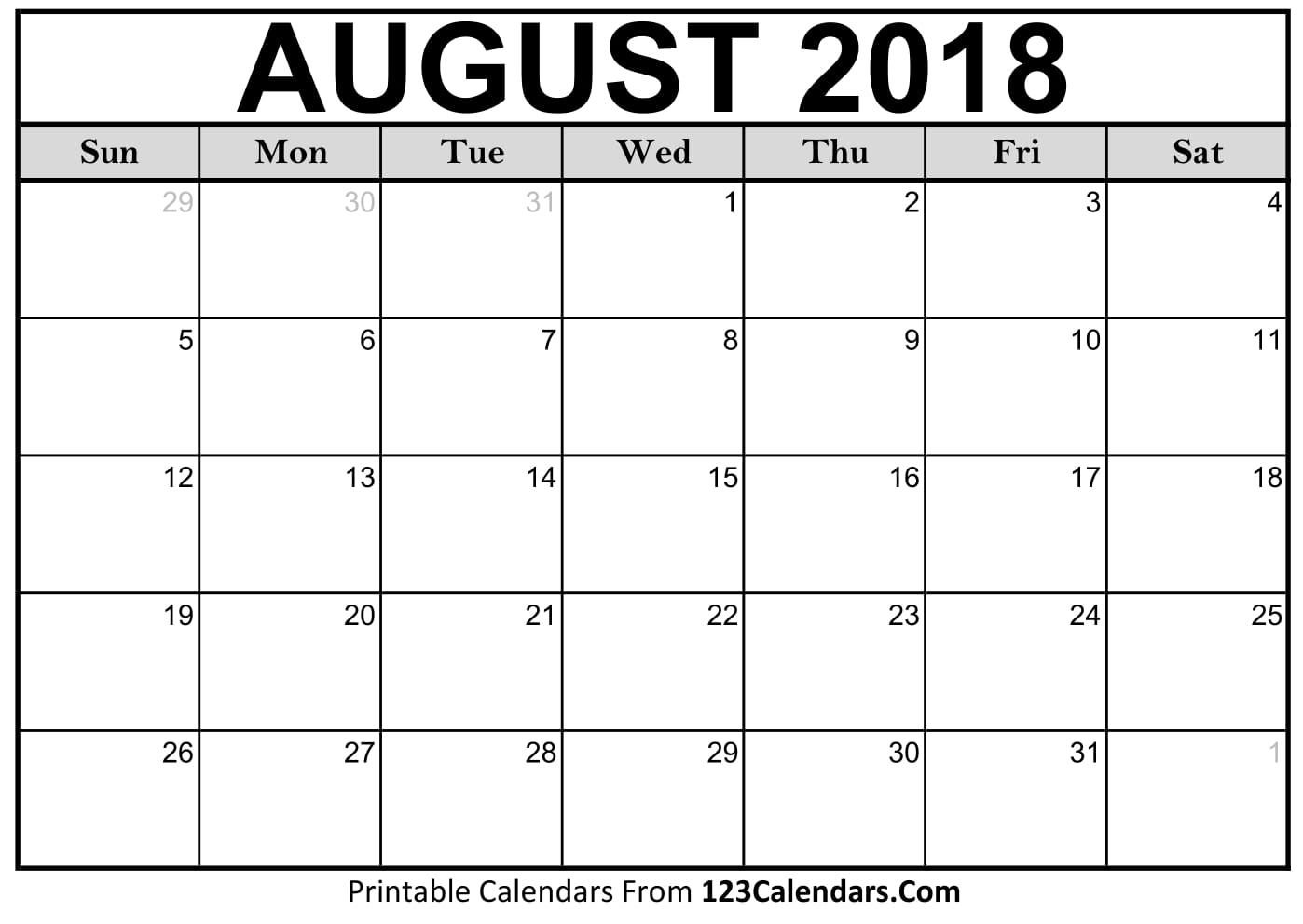 Aug 2018 Calendar Printable   Hauck Mansion within Pretty Blank Augst Calender