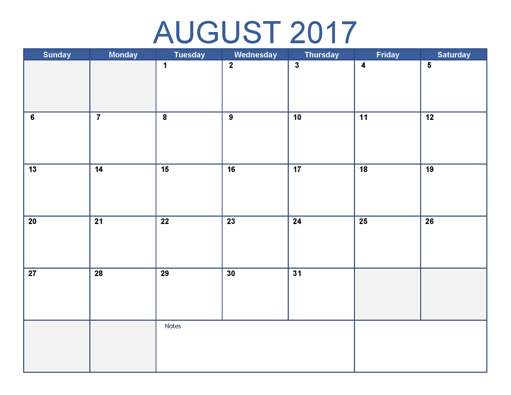 August 2017 Calendar With Holidays - Printable Monthly Calendar with regard to Printable Monthly Calendar Templates August