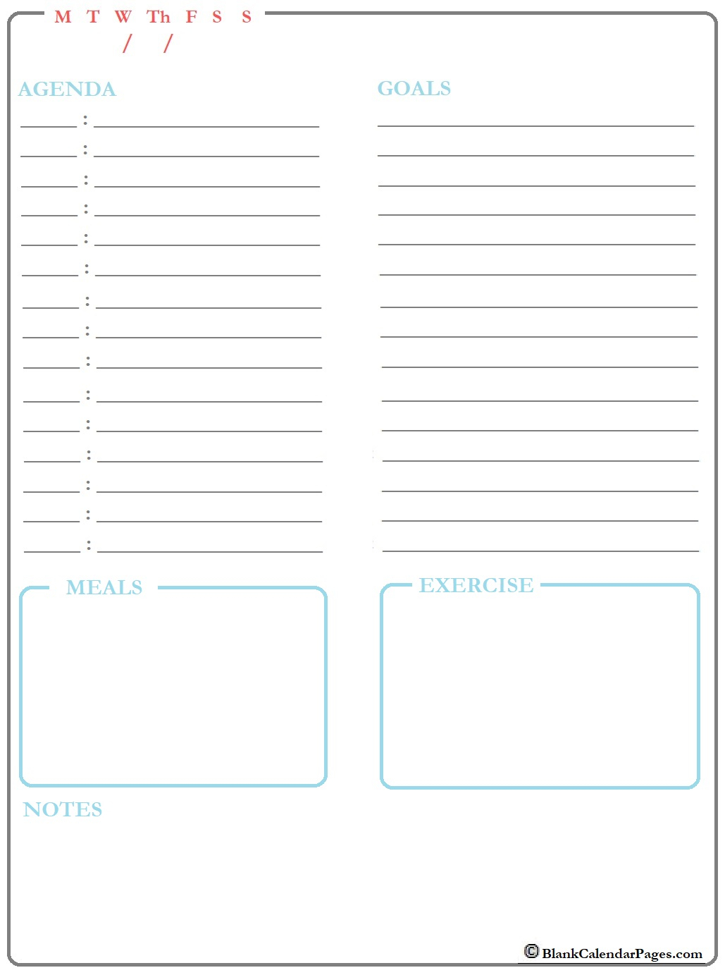 August 2019 Daily Calendar Template| August 2019 Daily Planner with Daily Planner Printable Calendar Templates