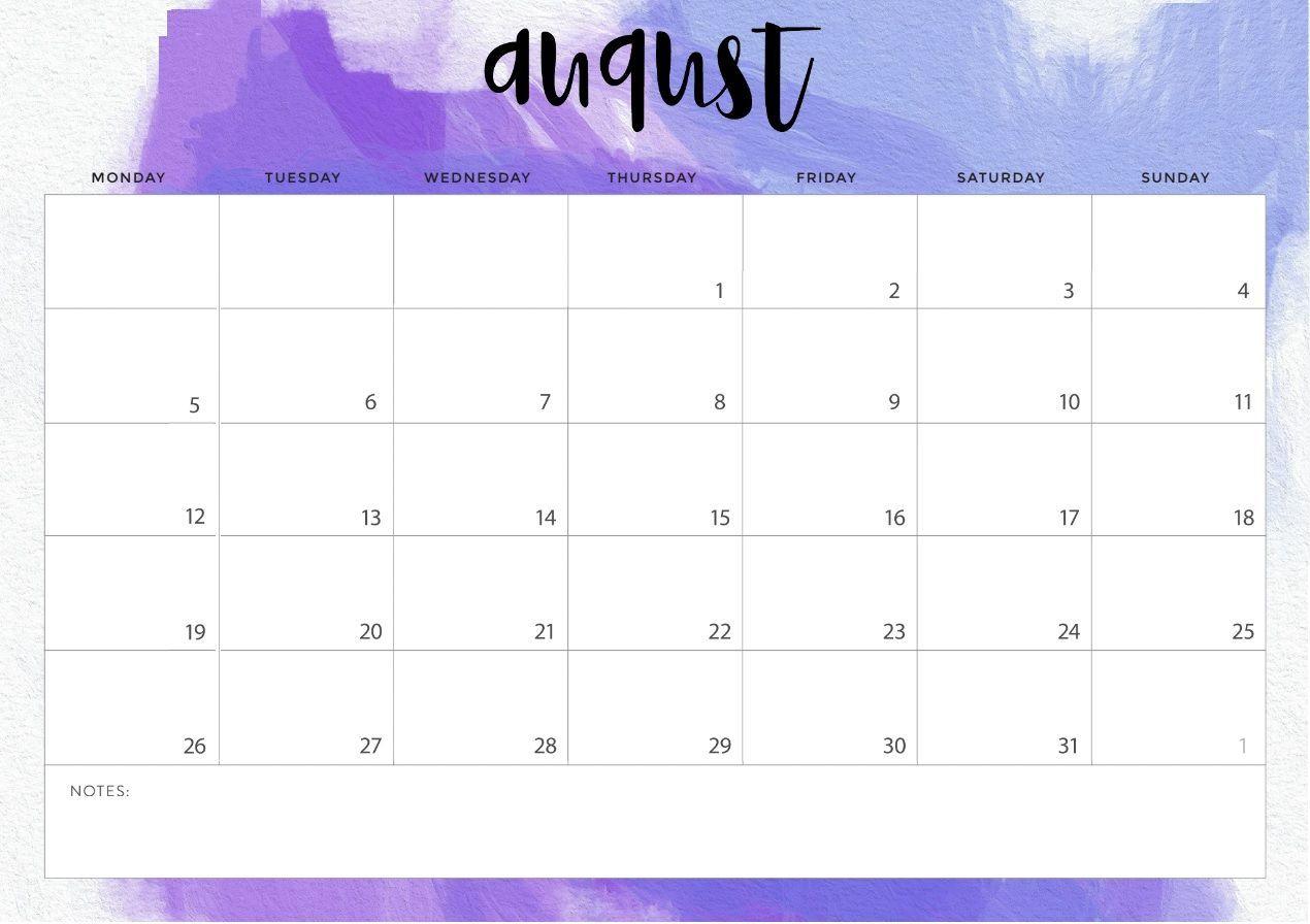 August 2019 Printable Calendar Blank Templates - Calendar Hour in August Calendar Template Printable