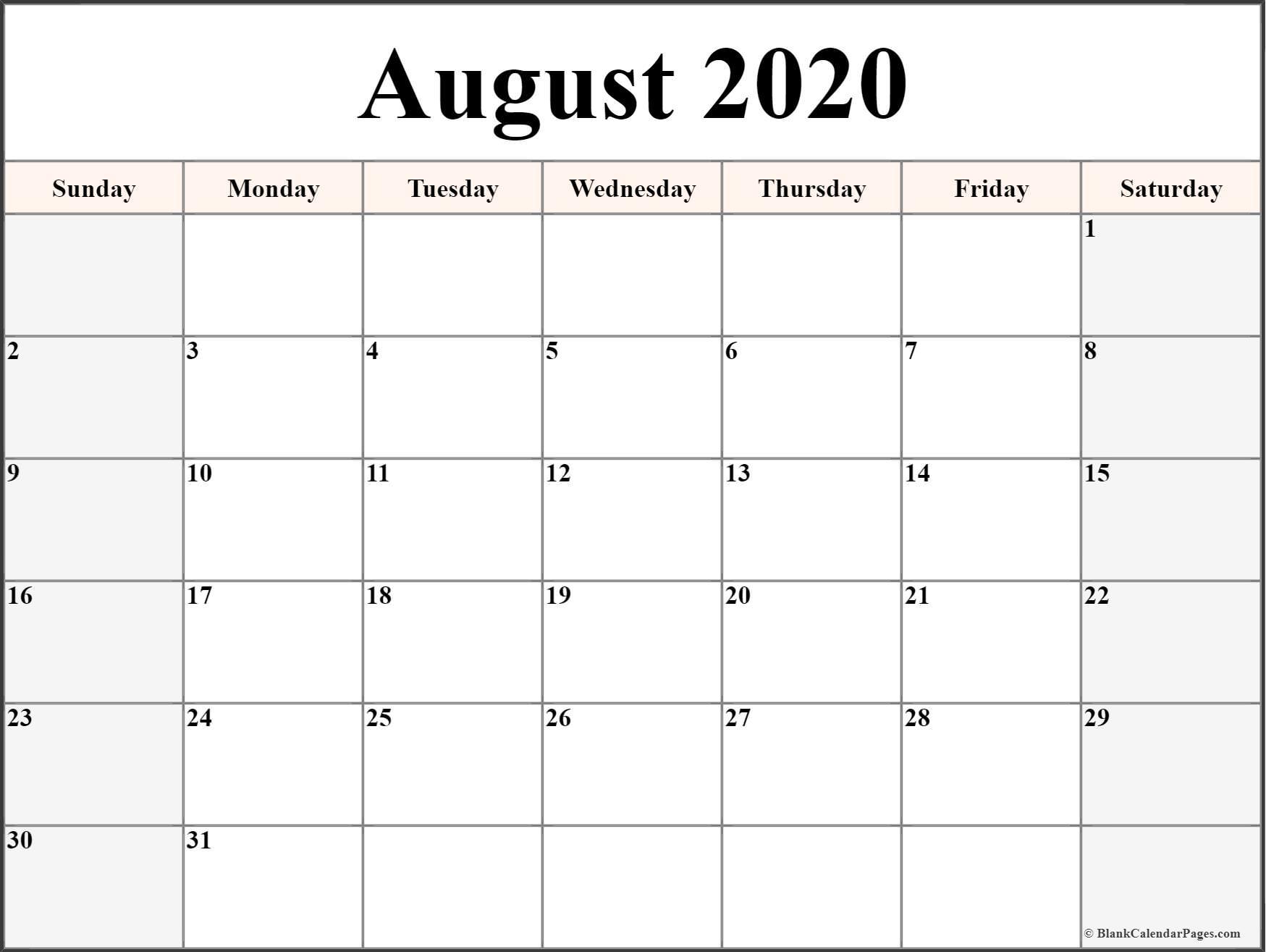 August 2020 Calendar   Free Printable Monthly Calendars pertaining to Kid Freiendly August 2020 Calendars