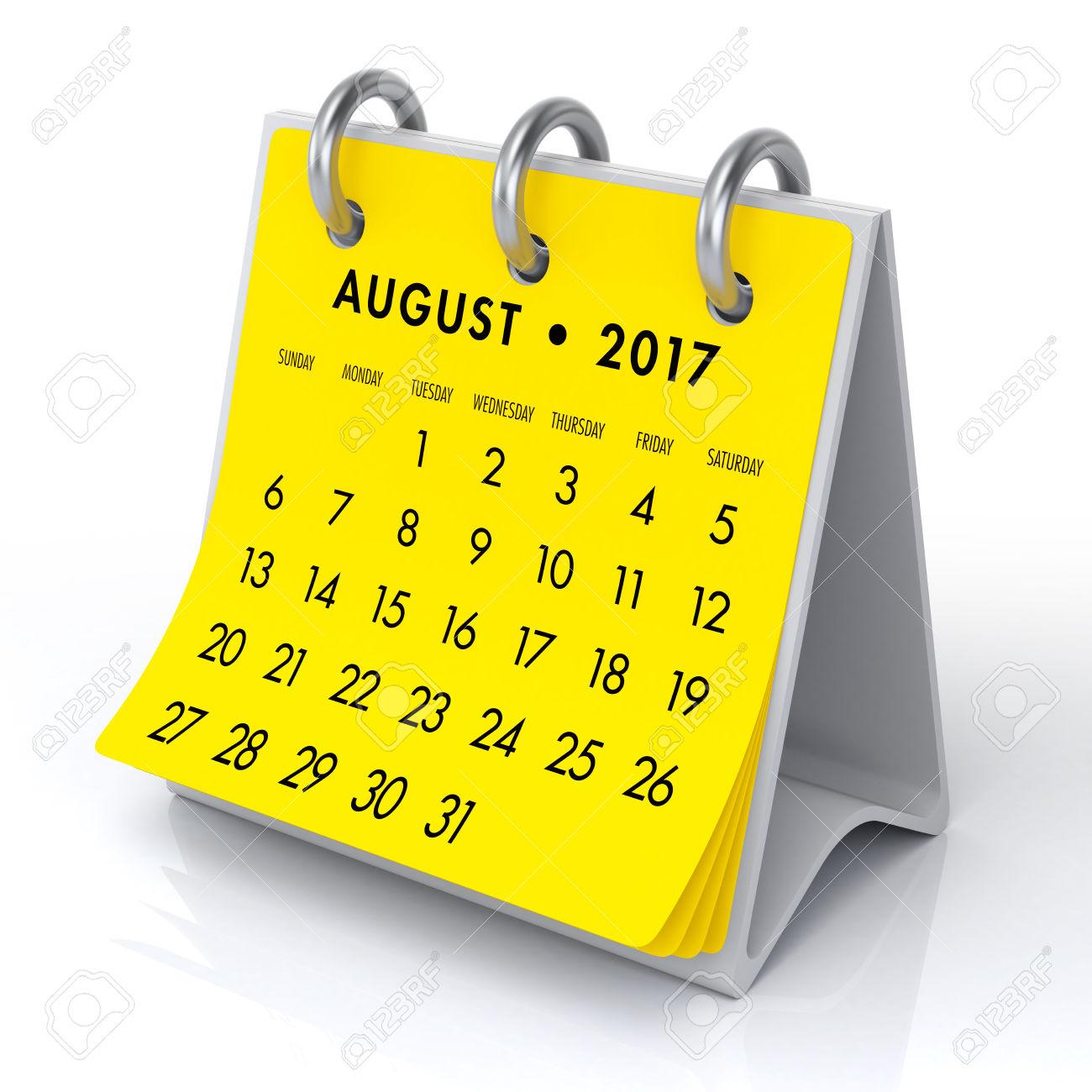 August Clipart Calendar, August Calendar Transparent Free For inside Aug Calendar Clip Art Template