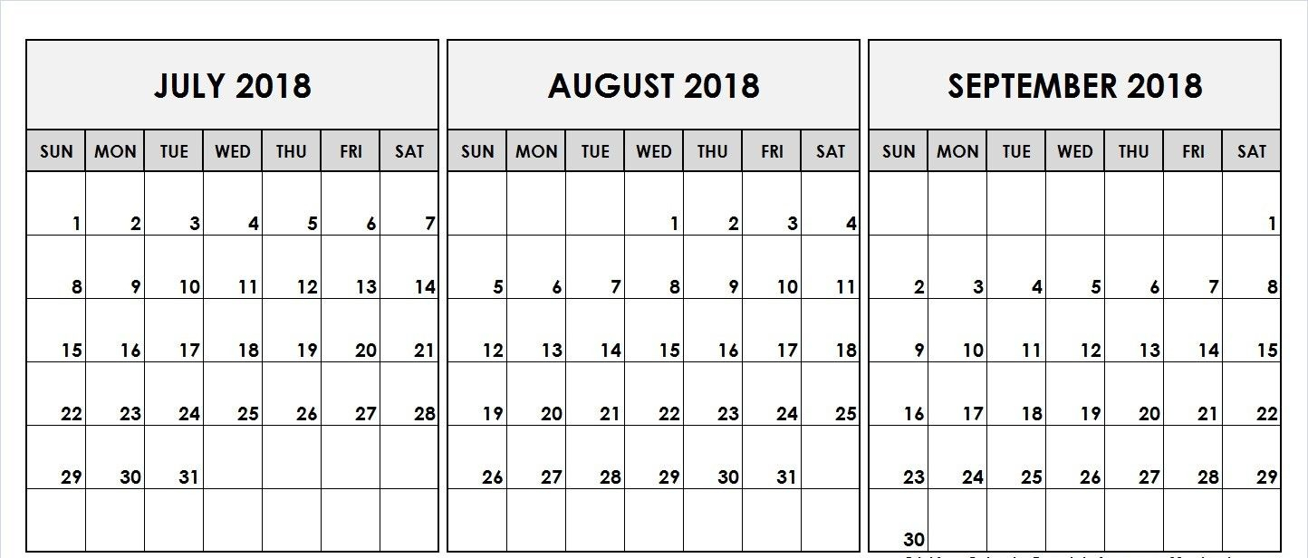 August September 2018 Calendar Template | Printable August Calendar inside Blank August And September Calendar