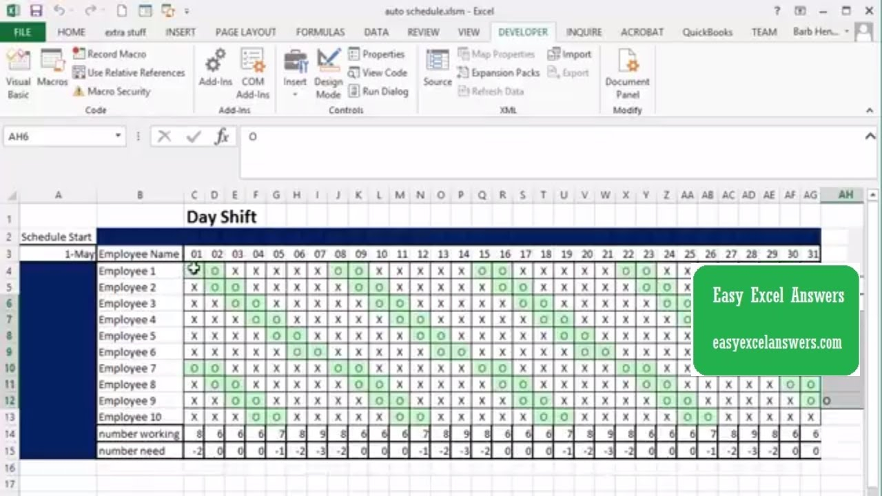 Automatically Create Shift Schedule In Excel for 3 Day Shift Restaurant Template Sheets Excel