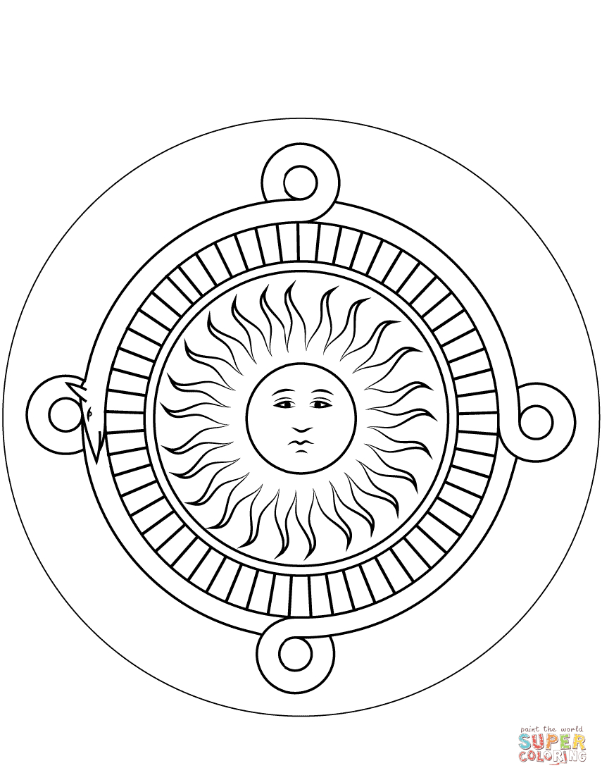 Aztec Calendar Stone Coloring Page   Free Printable Coloring Pages within Aztec Calendar Printable Template