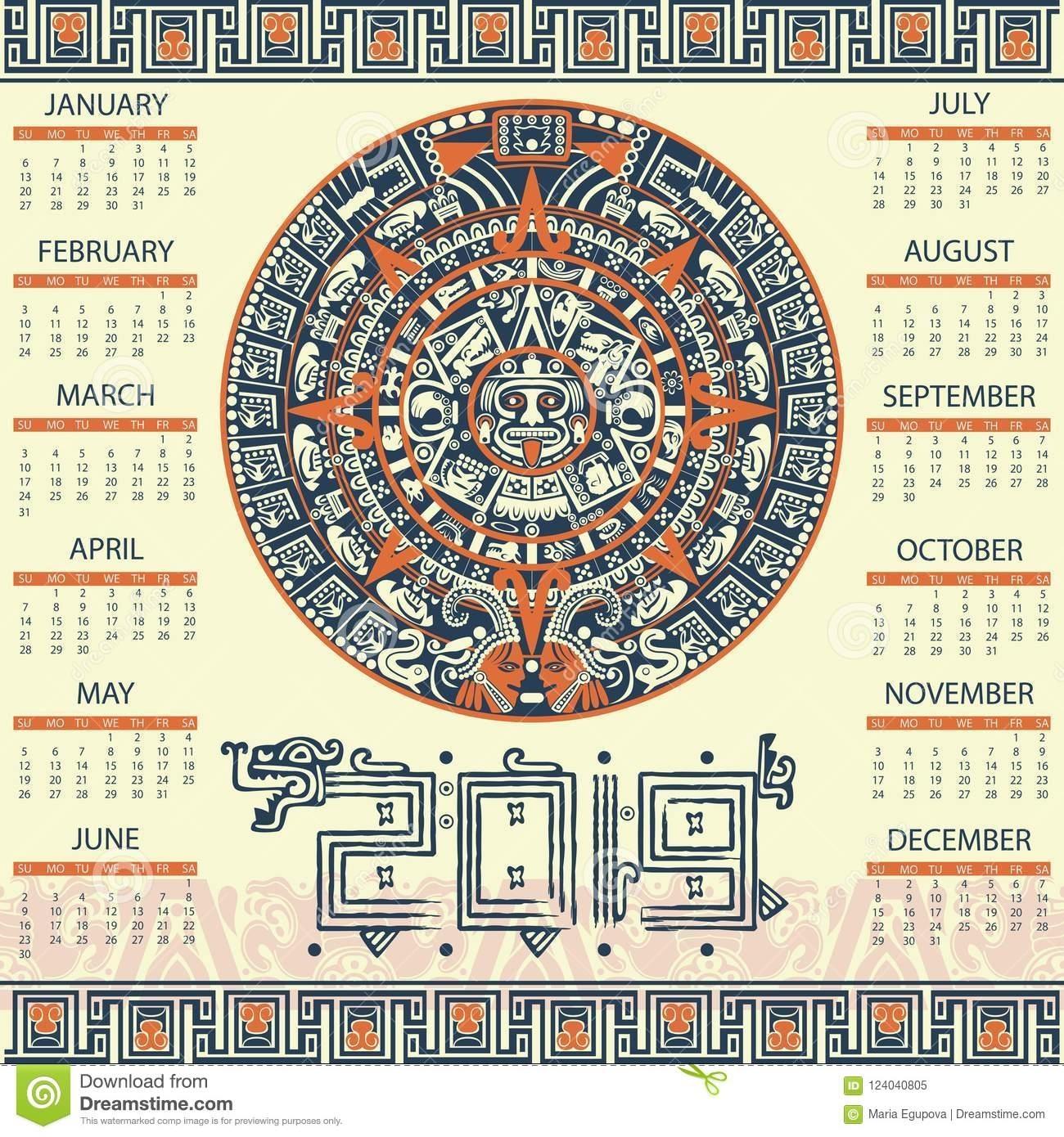 Aztec Calendar Zodiac Signs   Calendar Design Ideas inside Aztec Calendar Printable Template