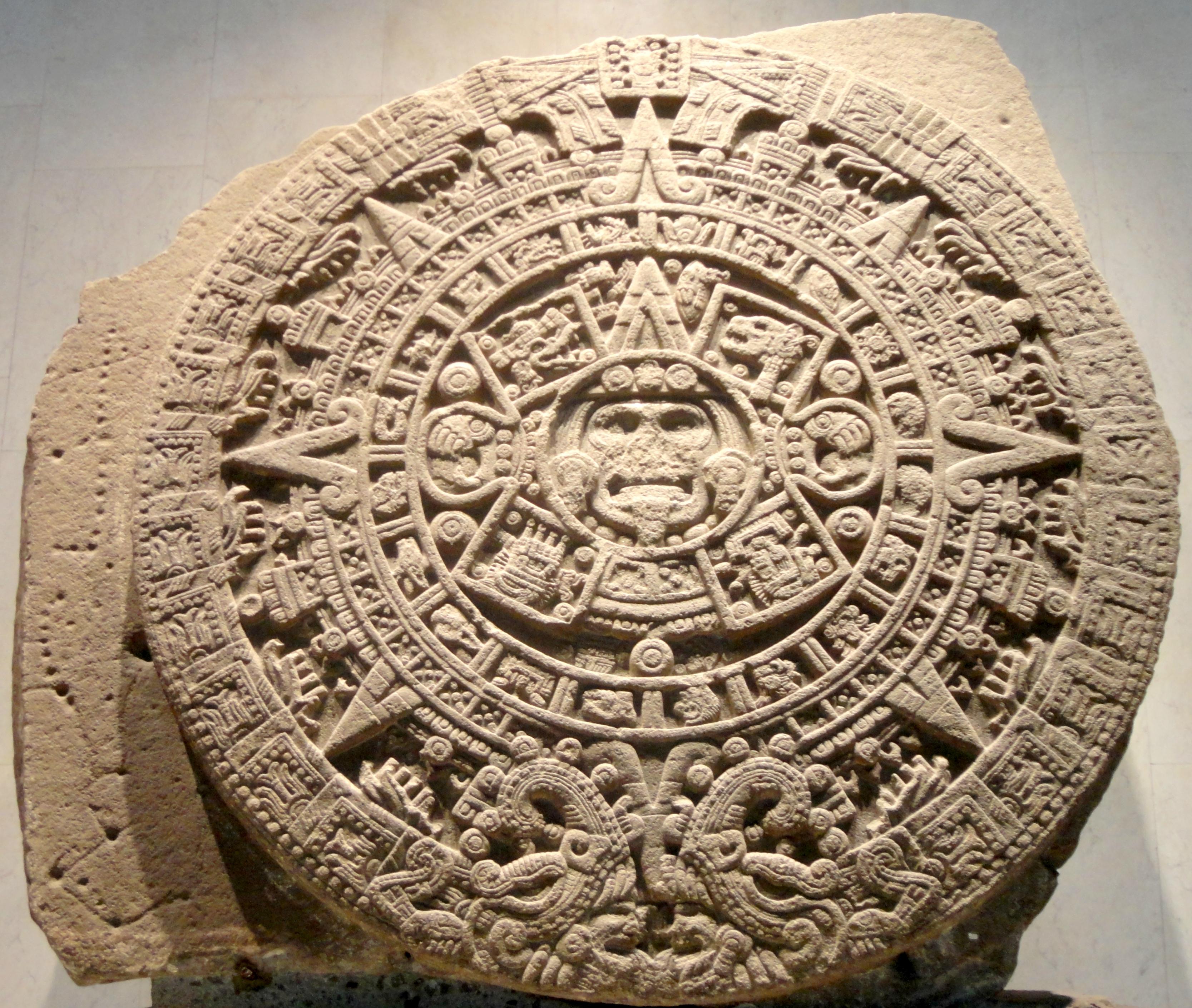 Aztec Sun Stone - Wikipedia inside Aztec Calendar Printable Template