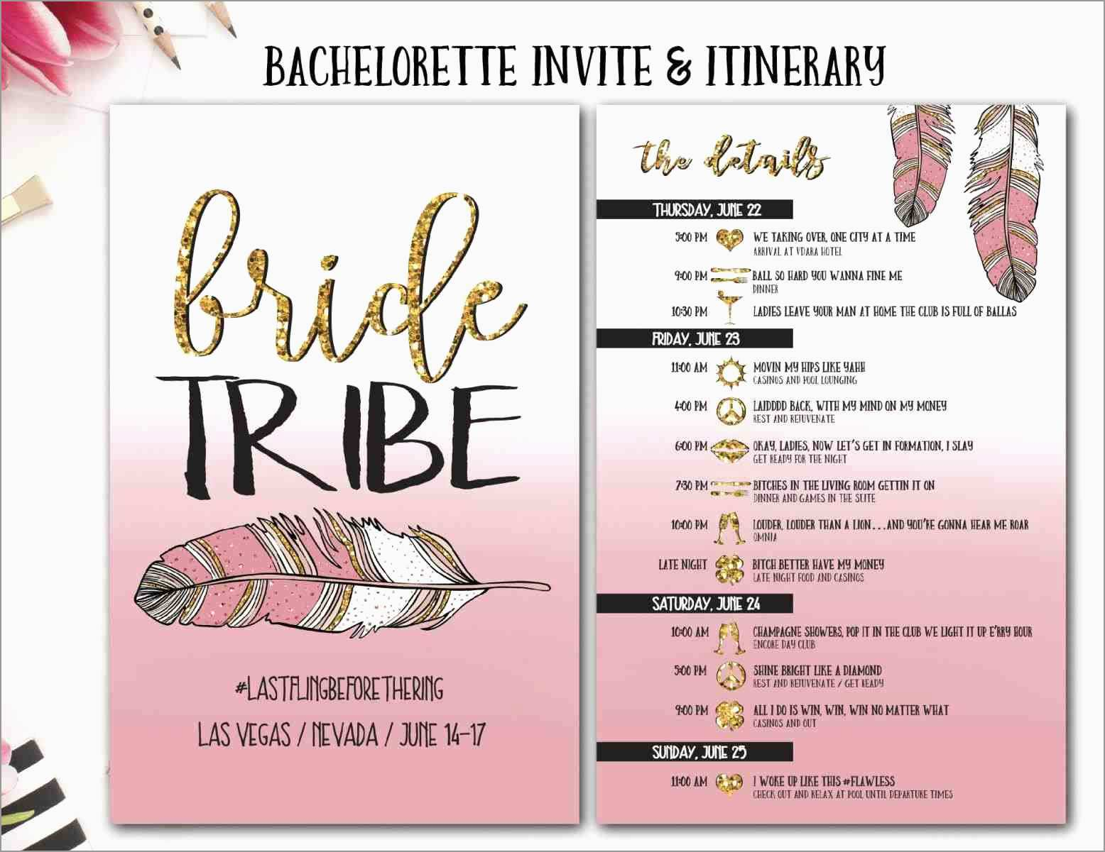 Bachelorette Itinerary Template Free Pretty Bachelorette Itinerary within Bachelorett Fill In Blank Templets