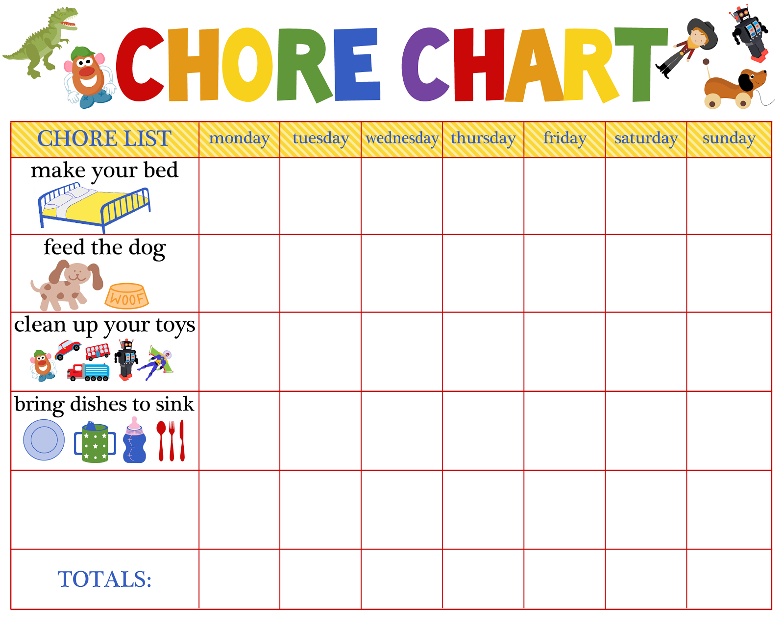 Behaviour Charts For 6 Year Olds | Kiddo Shelter | Printable Reward in Free Printable Blank Behavior Charts