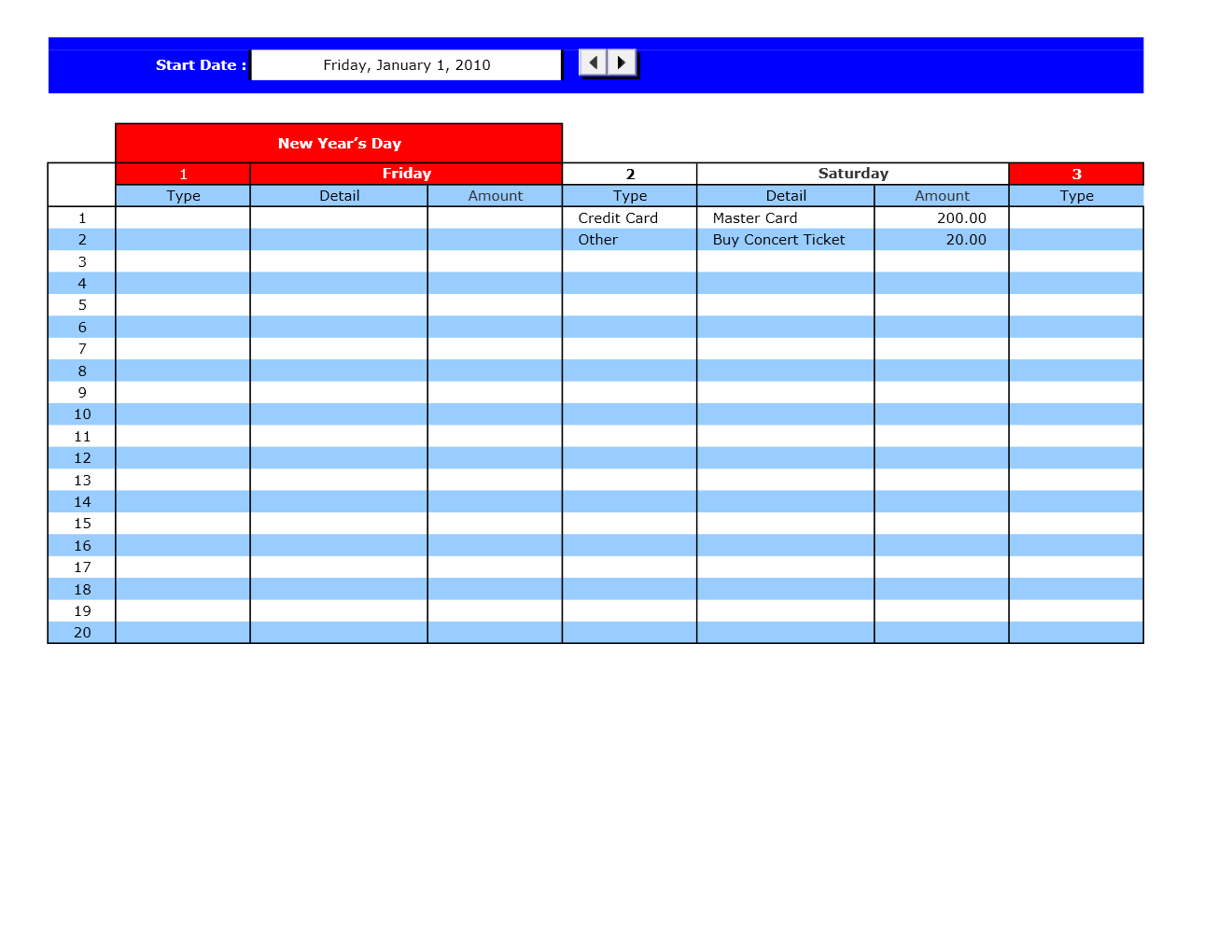 Bill Payment Calendar | Excel Templates | Excel Spreadsheets regarding Excel Calendar Template Bill Pay