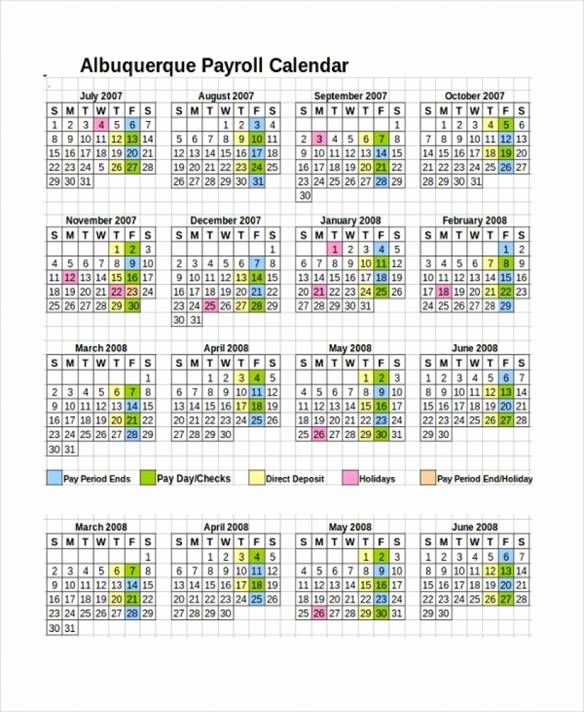 Biweekly Pay Schedule Template Luxury 10 Payroll Calendar Templates throughout Biweekly Payroll Calendar Template
