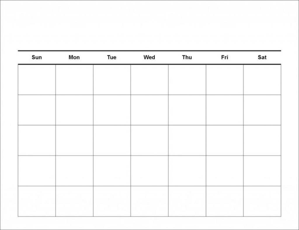 Blank 4 Week Calendar Template | 2019 Calendar Template Design within Blank 4 Week Calendar Printable