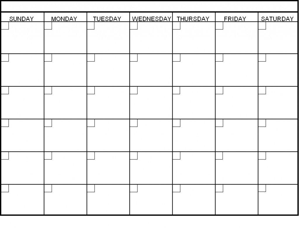 Blank 6 Week Calendar | Thekpark-Hadong with Blank 4 Week Calendar Printable