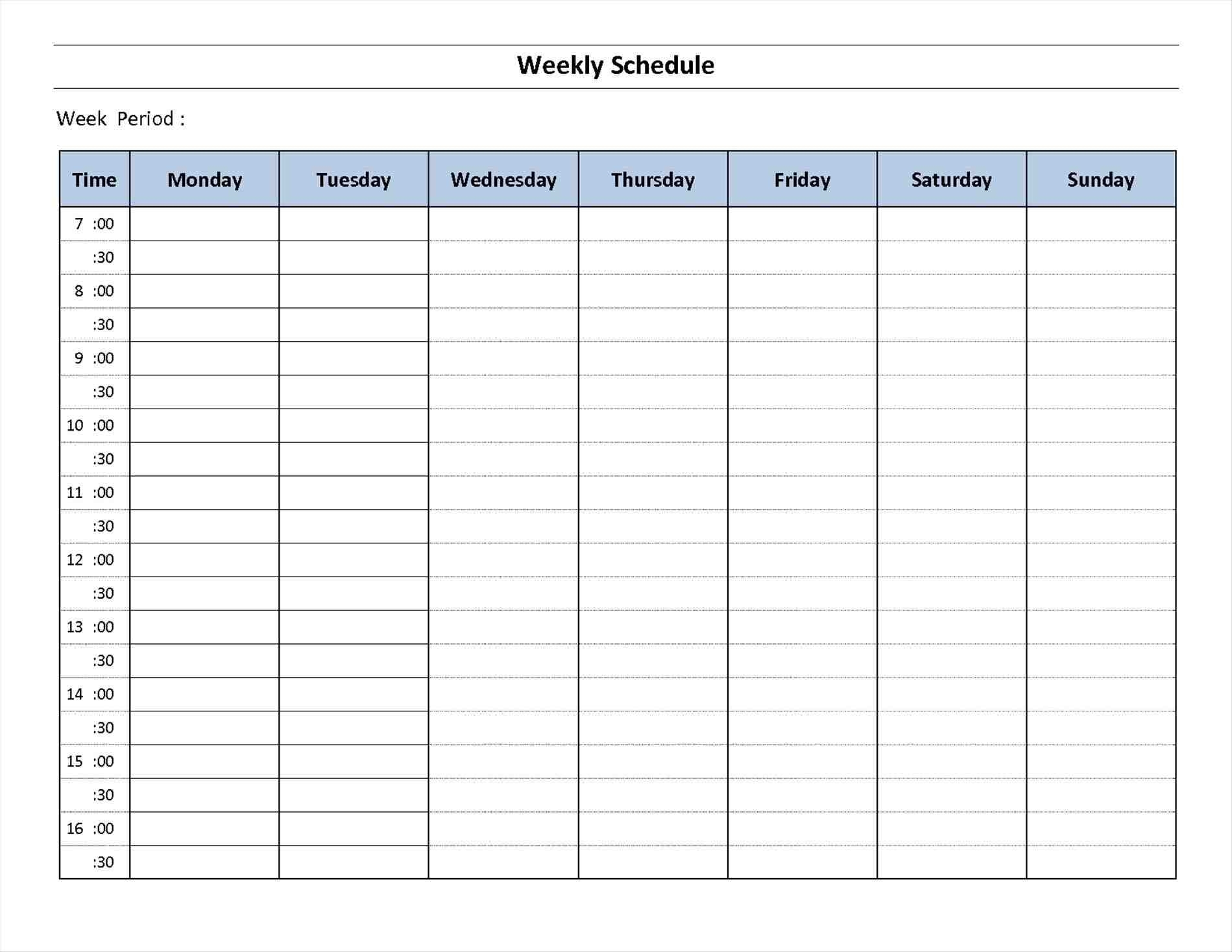 Blank 7 Day Week Calendar | Template Calendar Printable pertaining to 7 Day Week Blank Calendar