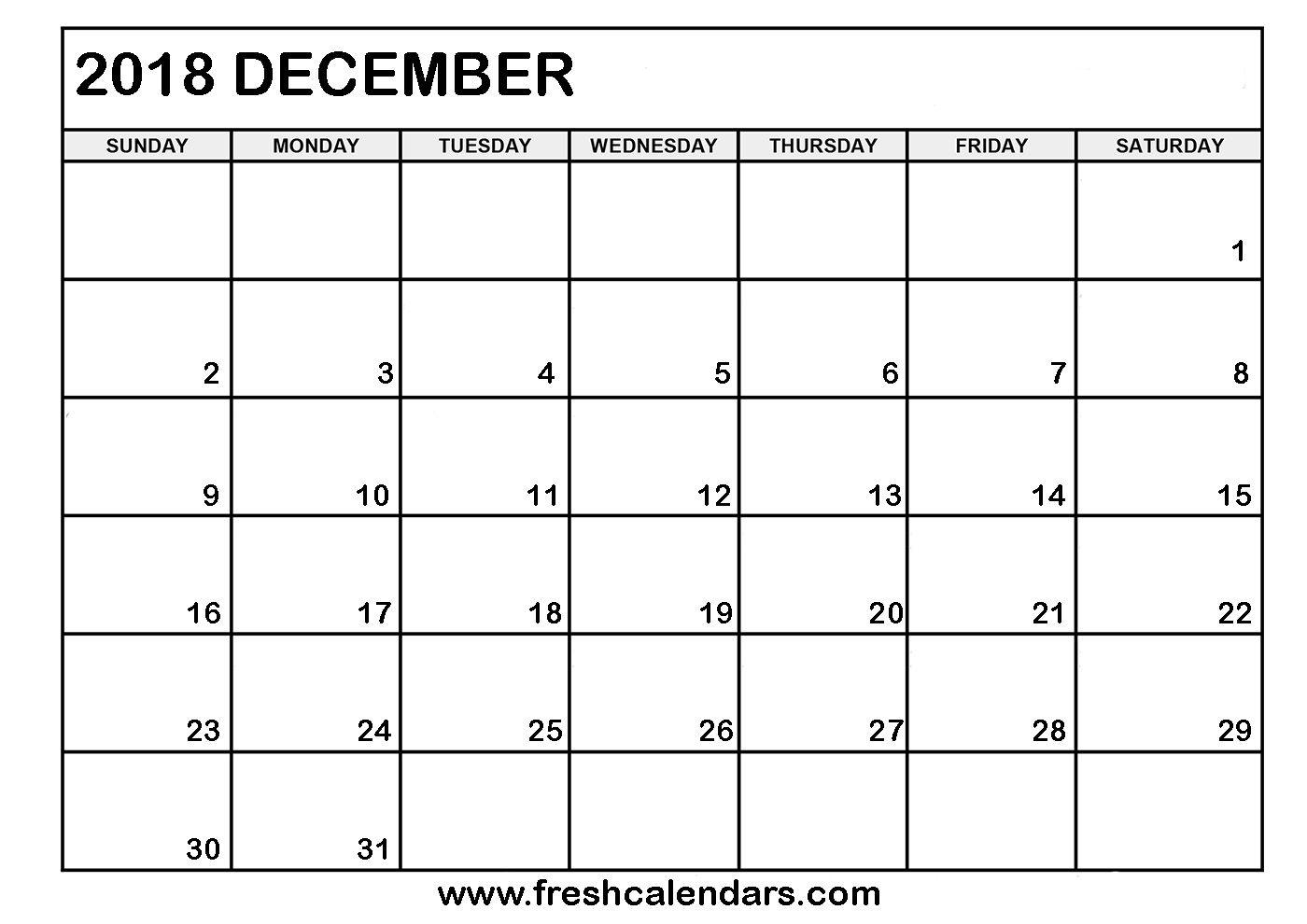 Blank Bold 2019 December Calendar | Calendar Format Example within Blank Bold December Calendar