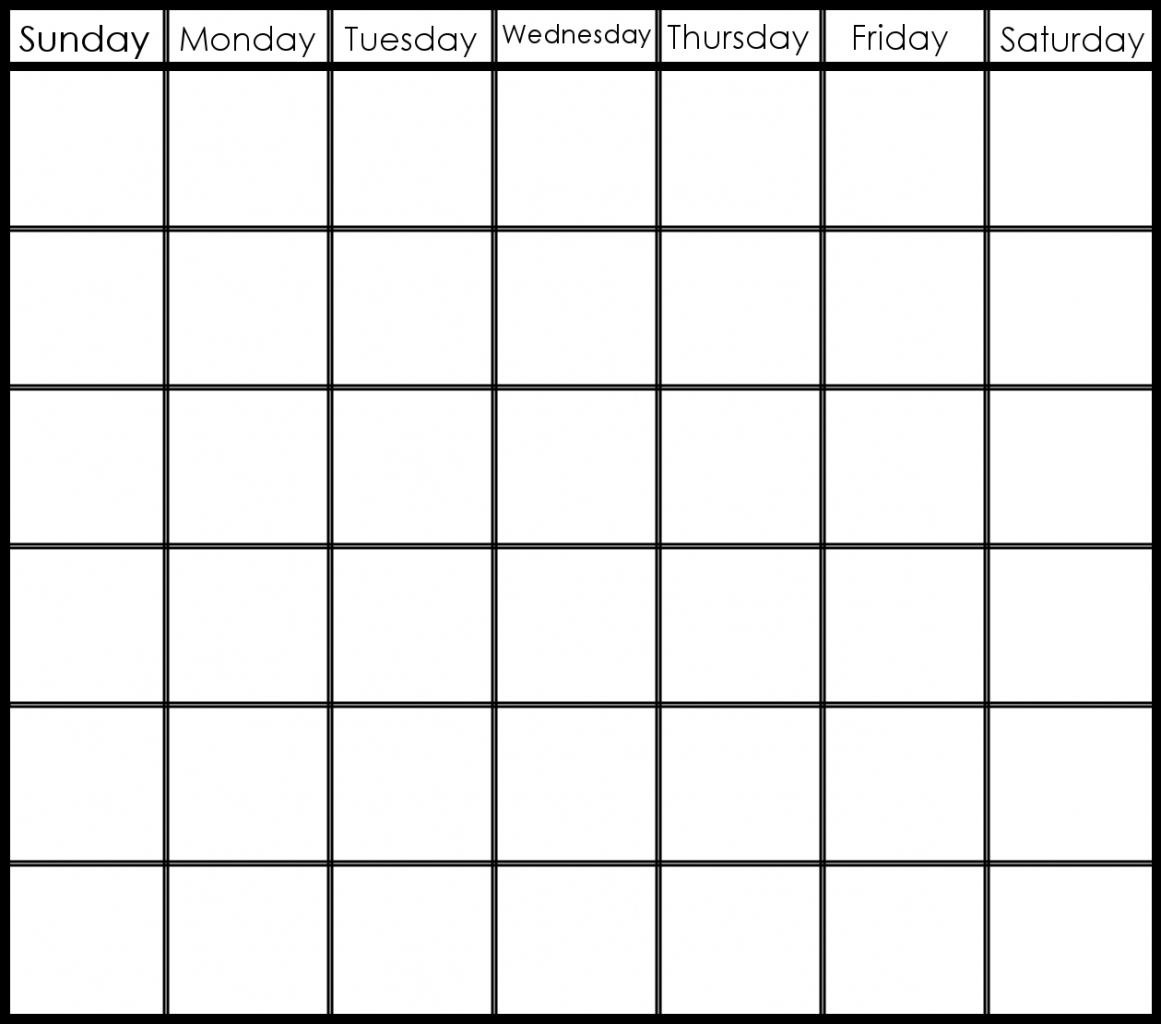 Blank Calendar 6 Weeks Start On Sunday   Template Calendar Printable with Blank Calendar 6 Weeks Start On Sunday