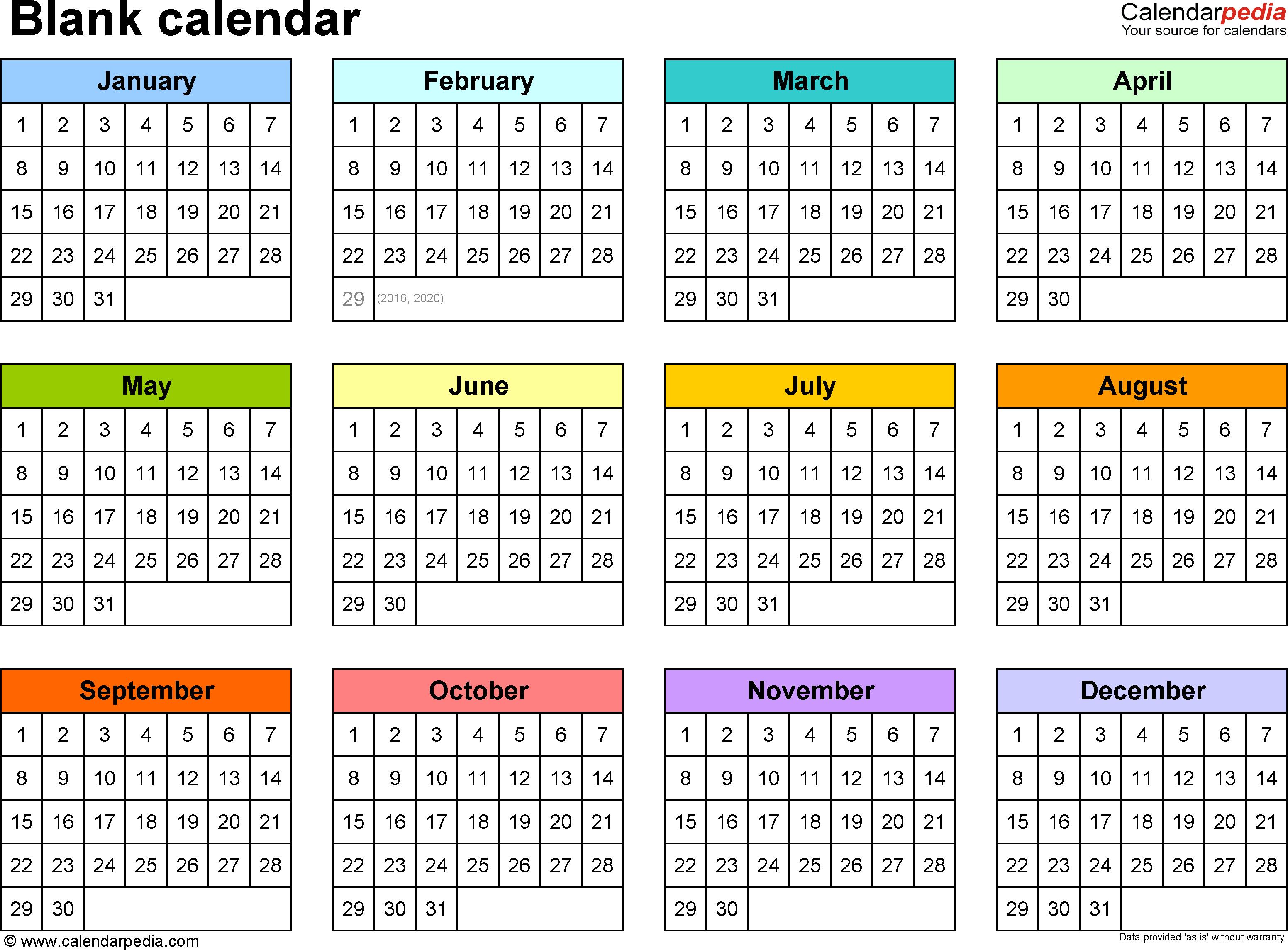 Blank Calendar - 9 Free Printable Microsoft Word Templates pertaining to Free Printable Calendar Templates 8 X 10
