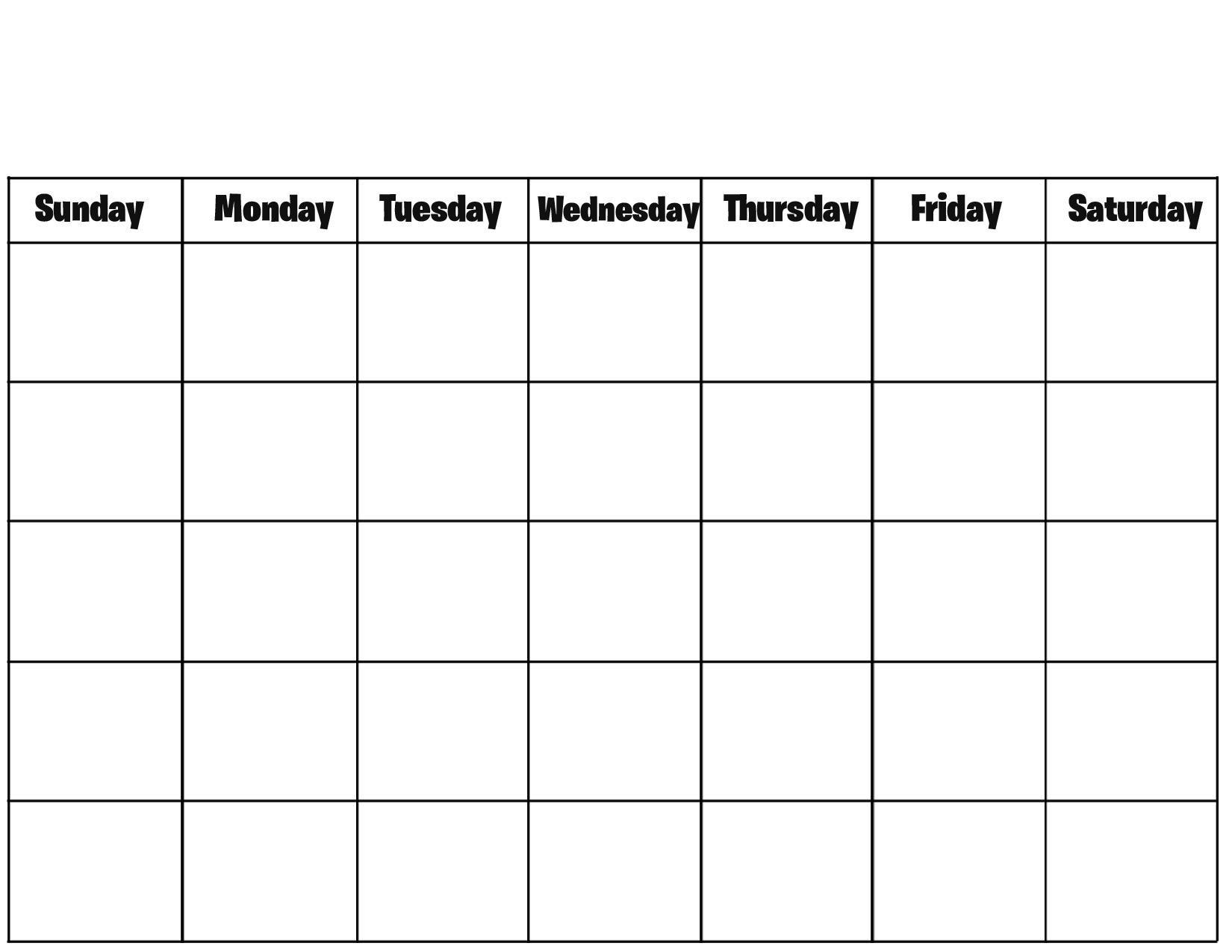 Blank Calendar Excel Template 2019 - Free Printable Calendar, Blank for Blank Printable Calendar Pages