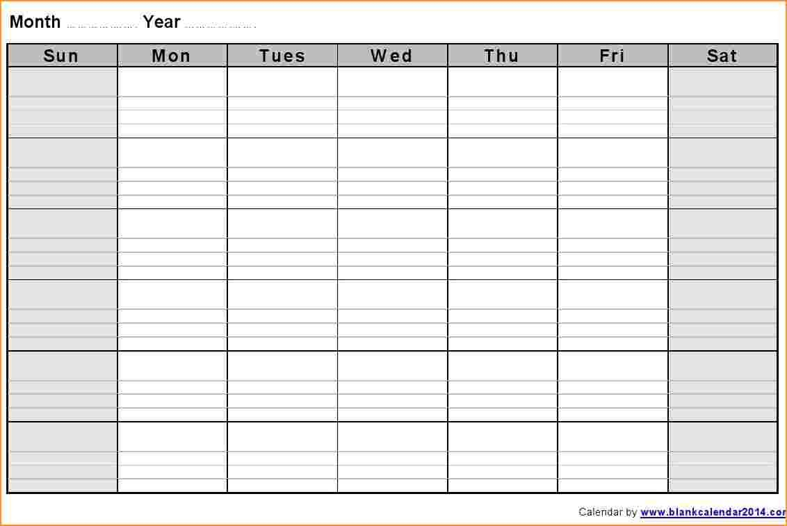 Blank Calendar Template Monthly Notes Landscape 2 Jpg Extraordinary intended for Blank Calendar Template With Notes
