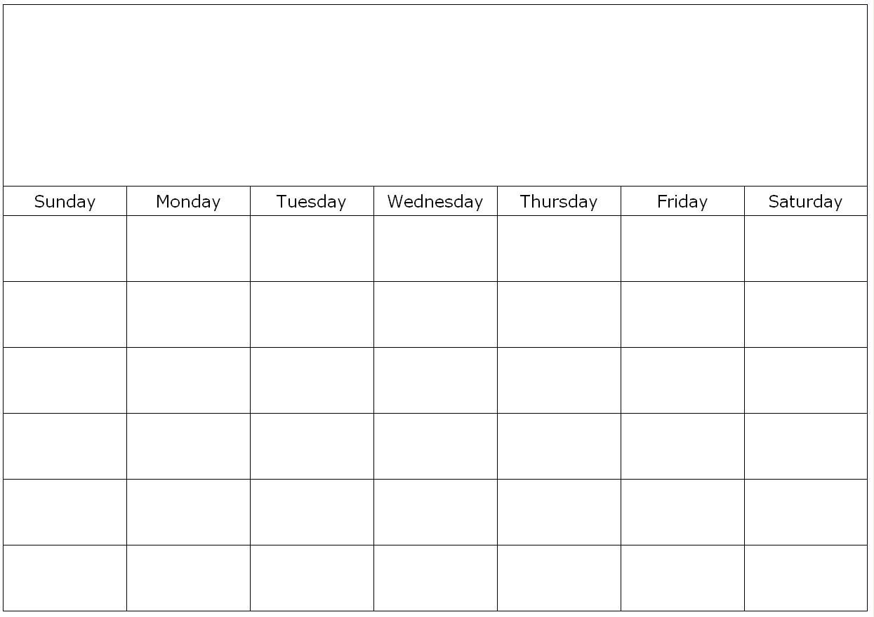 Blank-Calendar-Template-Print Large pertaining to Blank Fill In Calendar