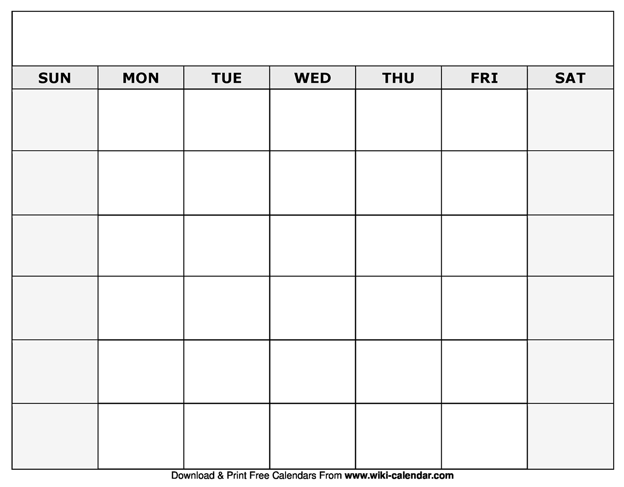 Blank Calendar With Only Weekdays | Template Calendar Printable throughout Blank Calendar With Only Weekdays