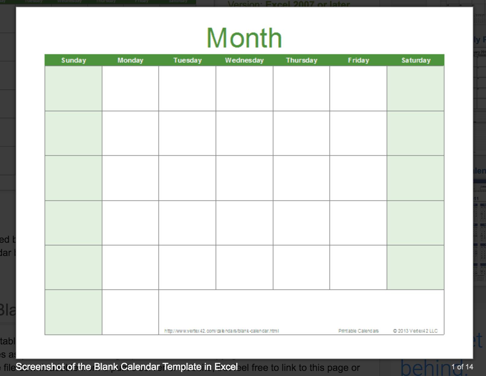 Blank Calendar: Wonderfully Printable 2019 Templates inside Free Excel Calendar Templates