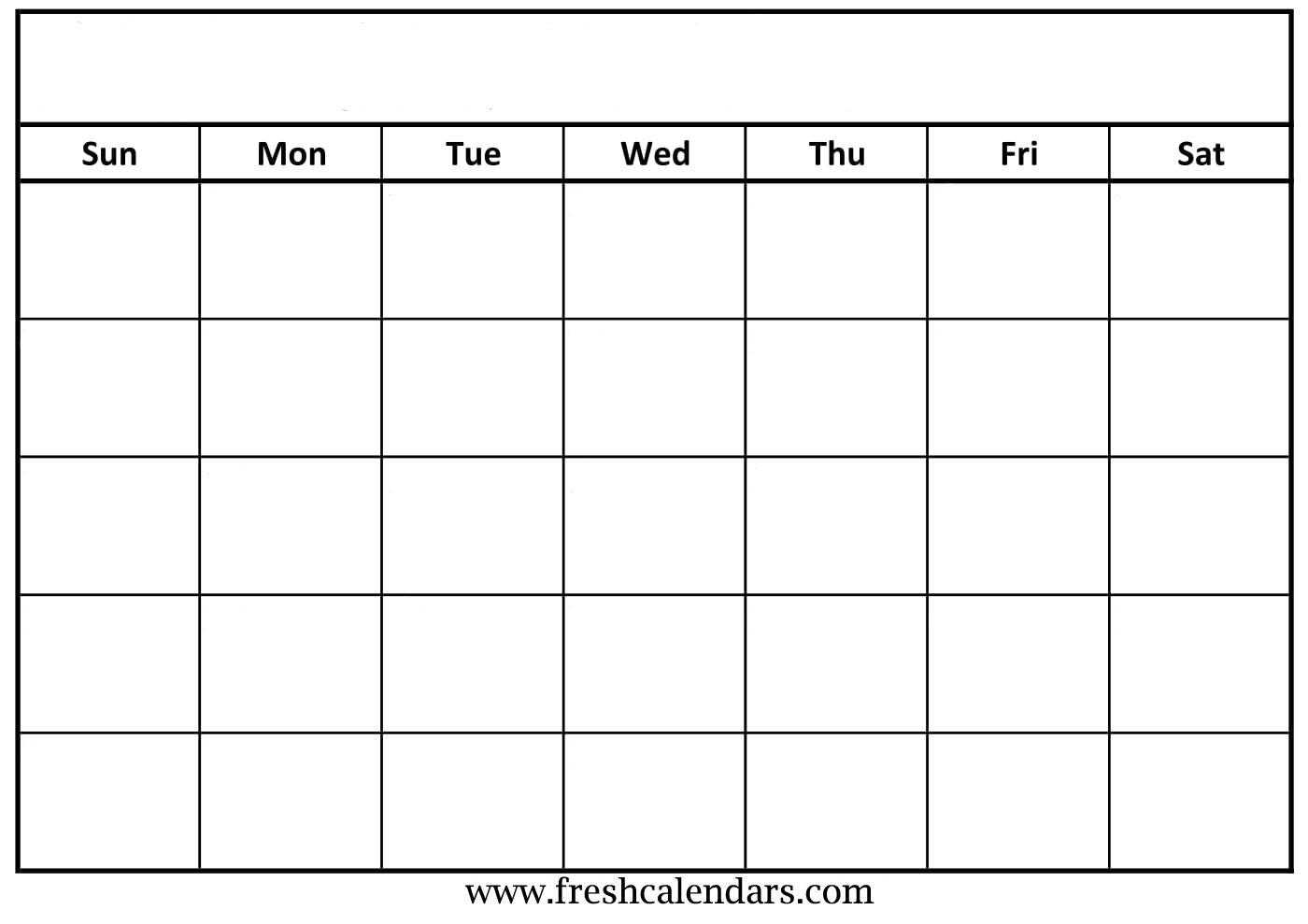 Blank Calendar: Wonderfully Printable 2019 Templates intended for Blank Fill In Calendar
