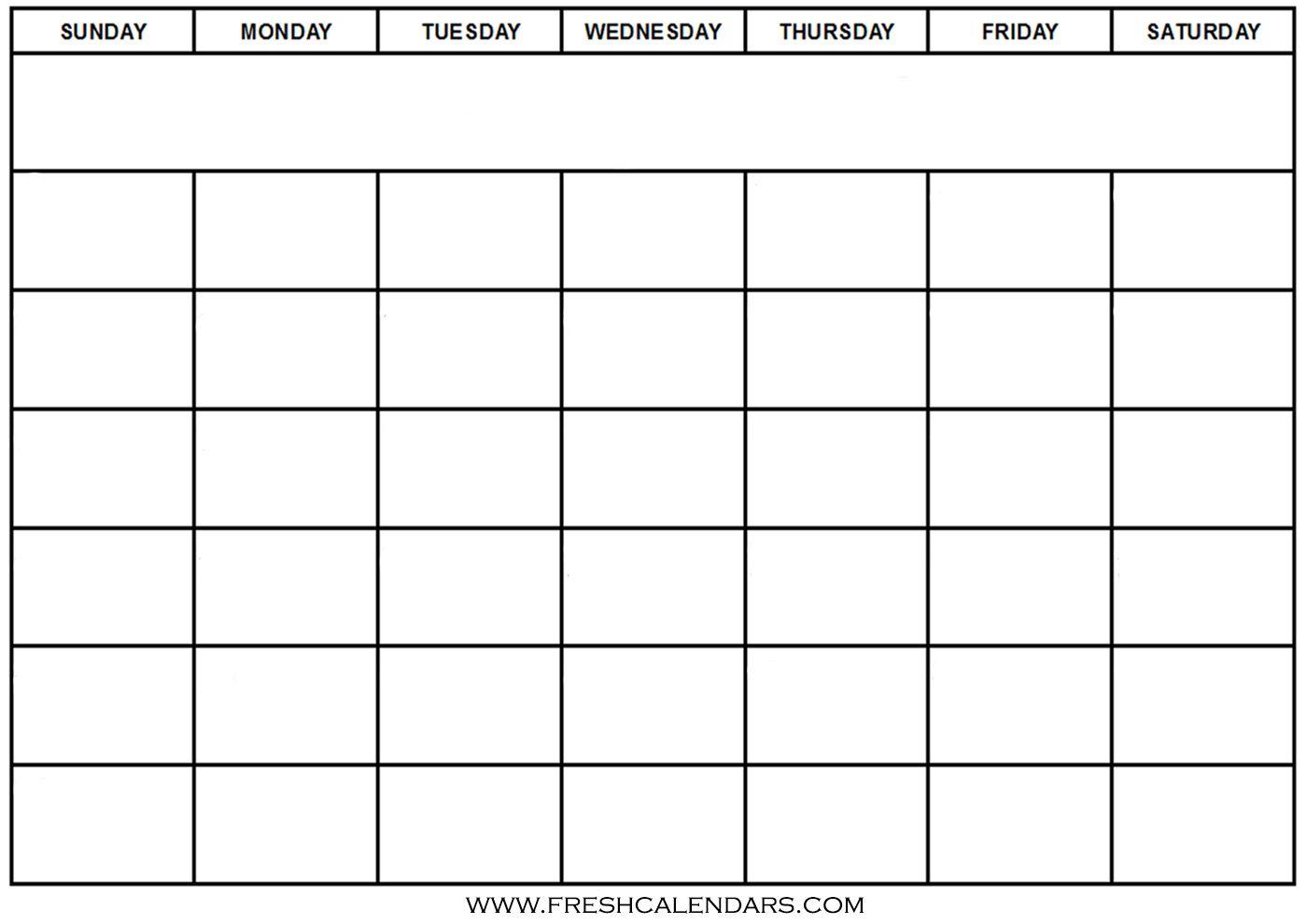 Blank Calendar: Wonderfully Printable 2019 Templates throughout Blank Calendar To Fill In