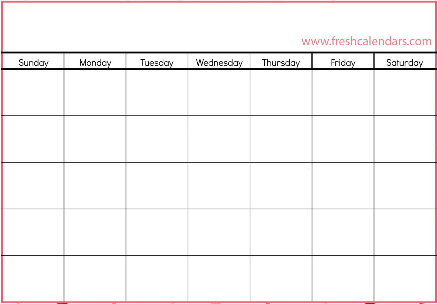 Blank Calendar: Wonderfully Printable 2019 Templates throughout Fill In Calendar Templates