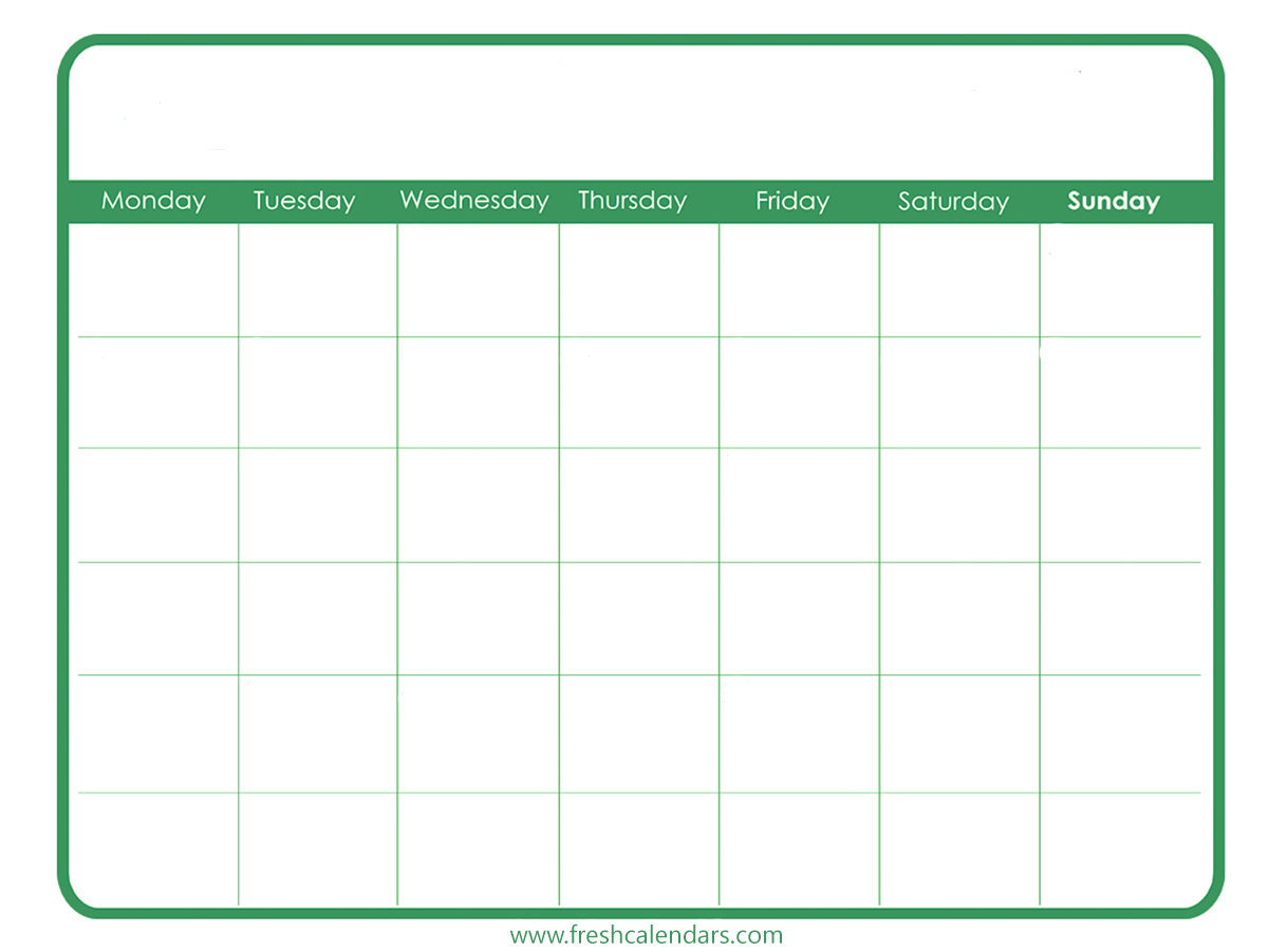 Blank Calendar: Wonderfully Printable 2019 Templates with regard to Fill In Blank Calendar