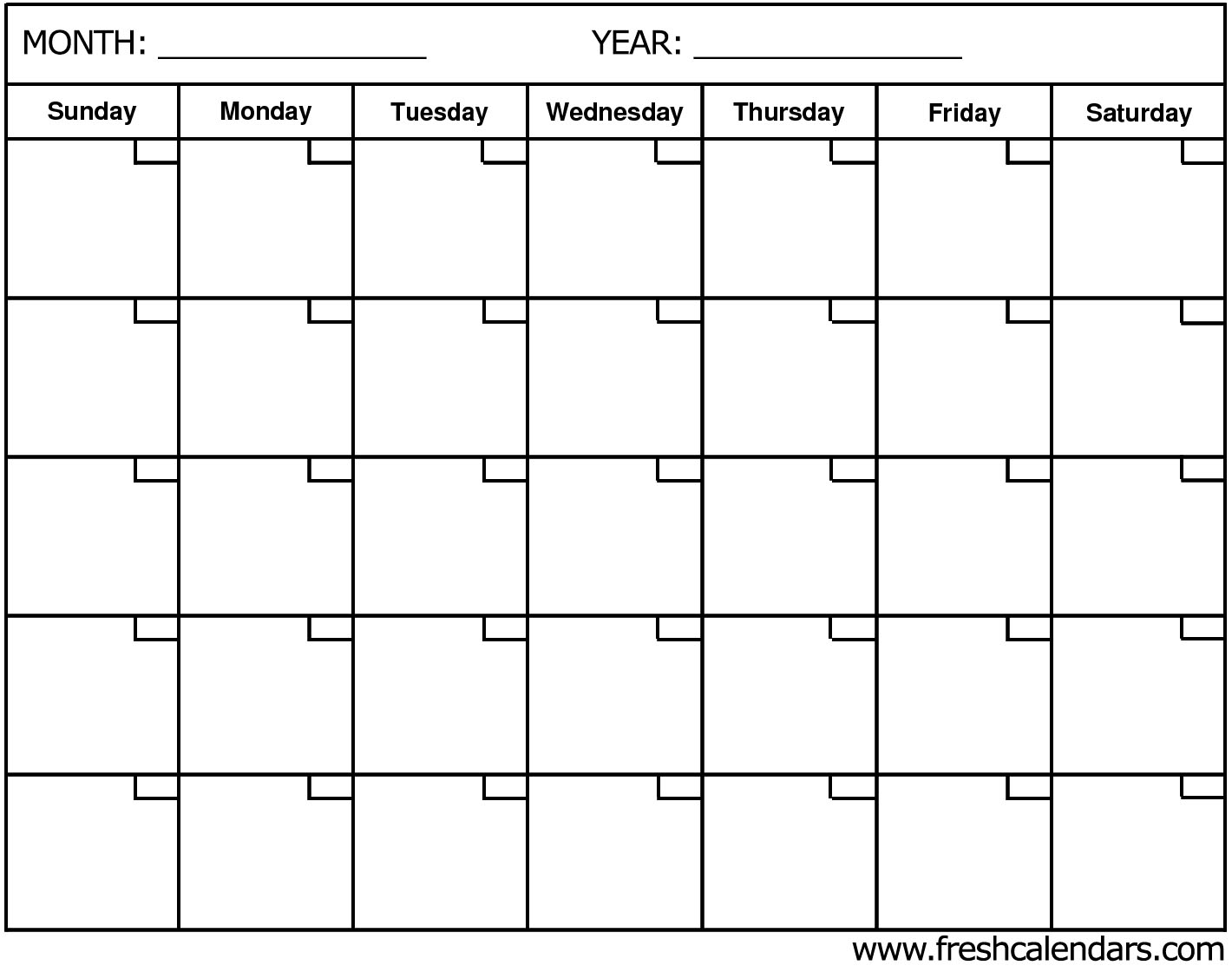 Blank Calendar: Wonderfully Printable 2019 Templates with regard to Month By Month Blank Calendar