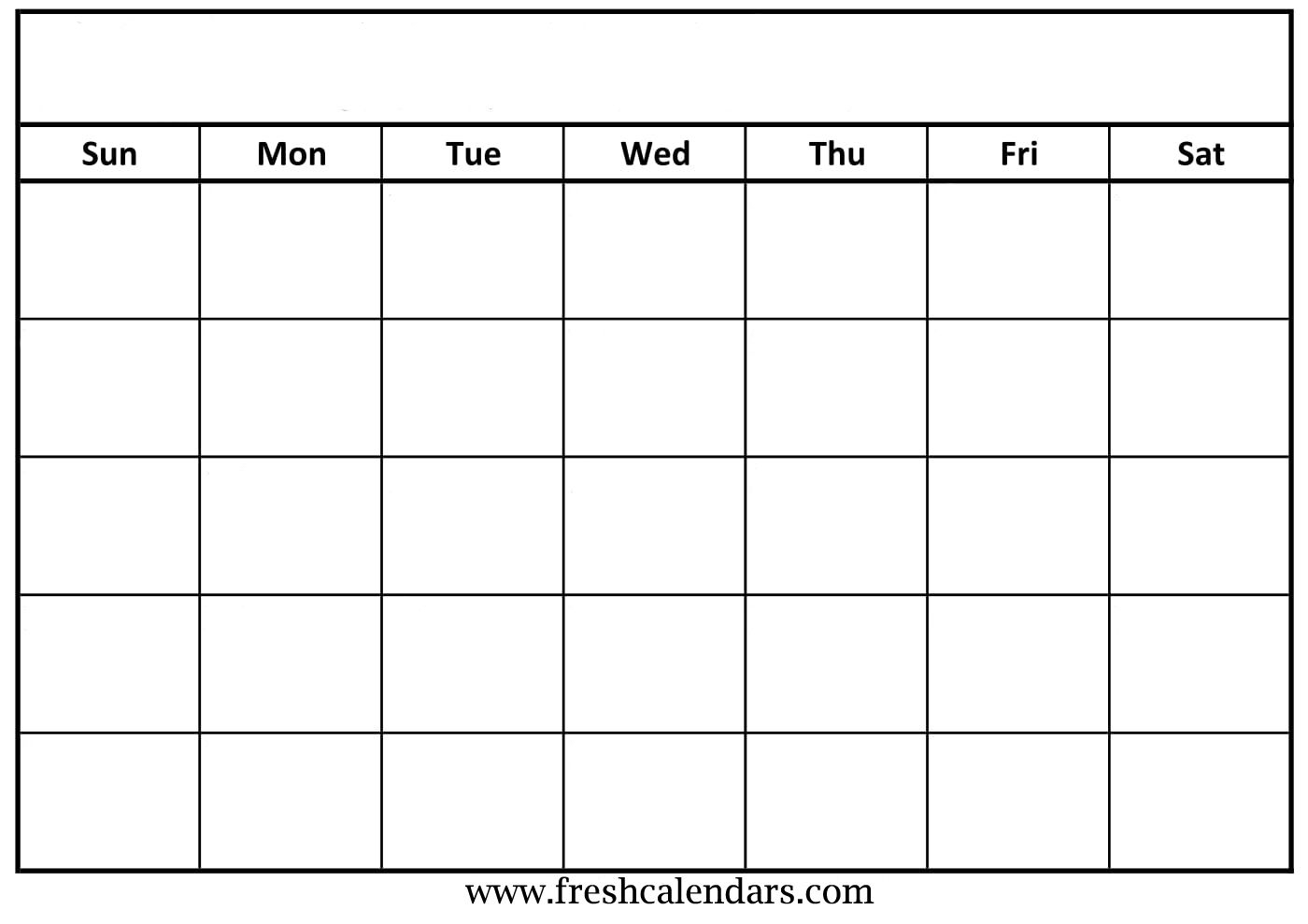 Blank Calendar: Wonderfully Printable 2019 Templates within Blank Calendar To Fill In