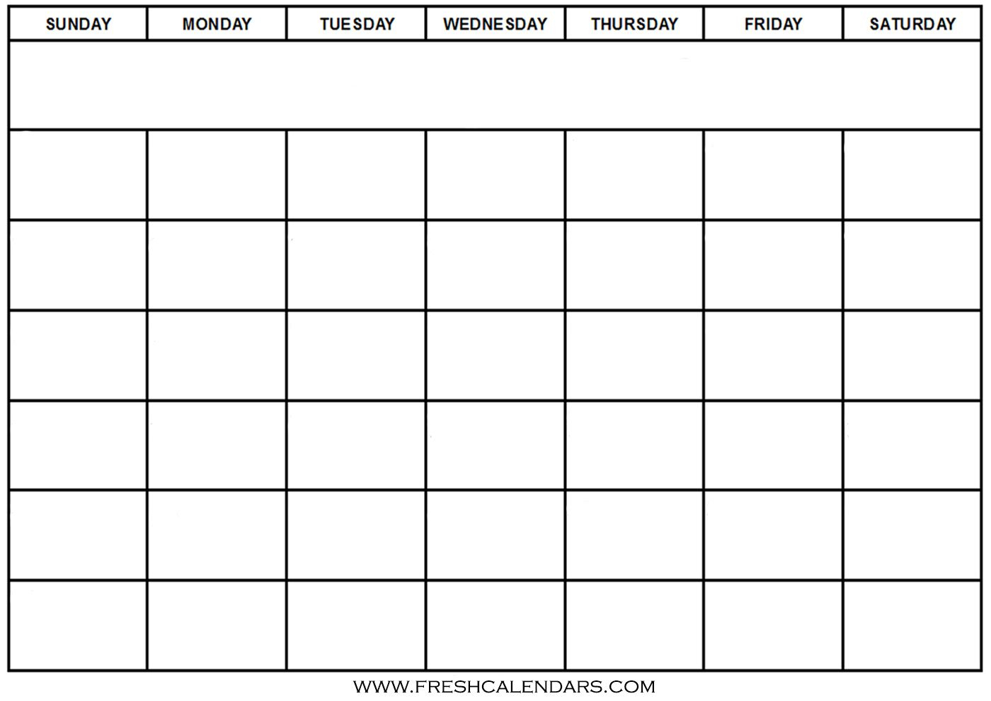Blank Calendar: Wonderfully Printable 2019 Templates within Empty Calendar Template For Kids