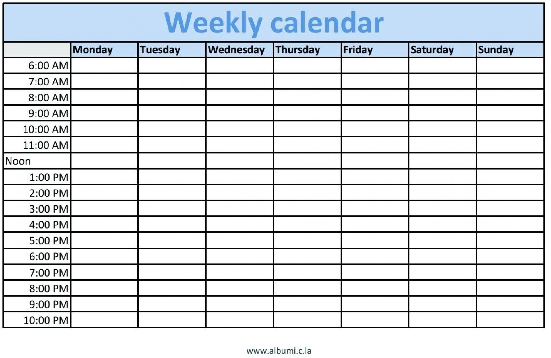 Blank Daily Schedule With Time Slots | Calendar Printing Example with Blank Daily Schedule With Time Slots