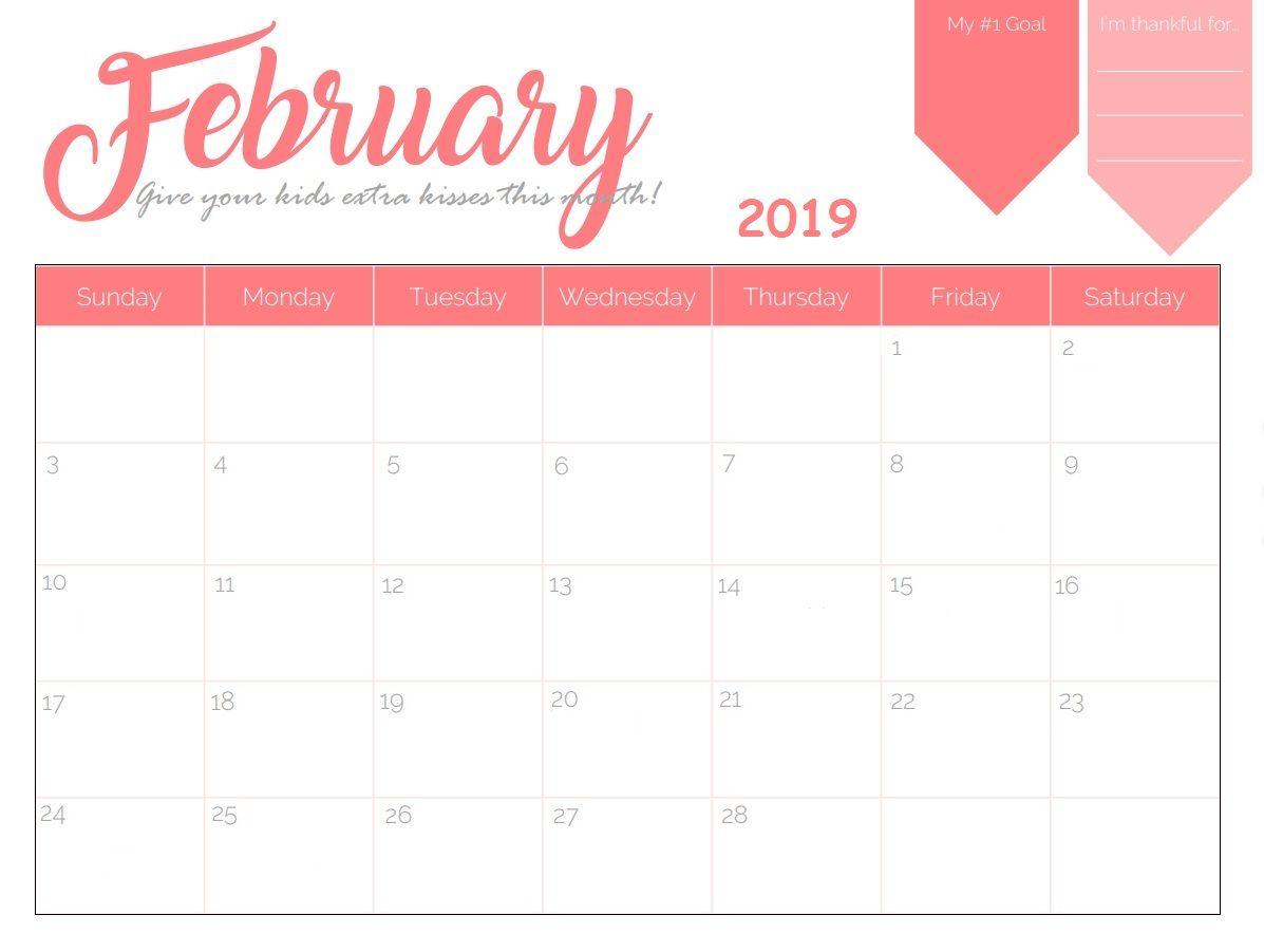 Blank Desk Calendar February 2019 #february2019 #calendarfebruary with 2020 Imom Free Calendars To Print