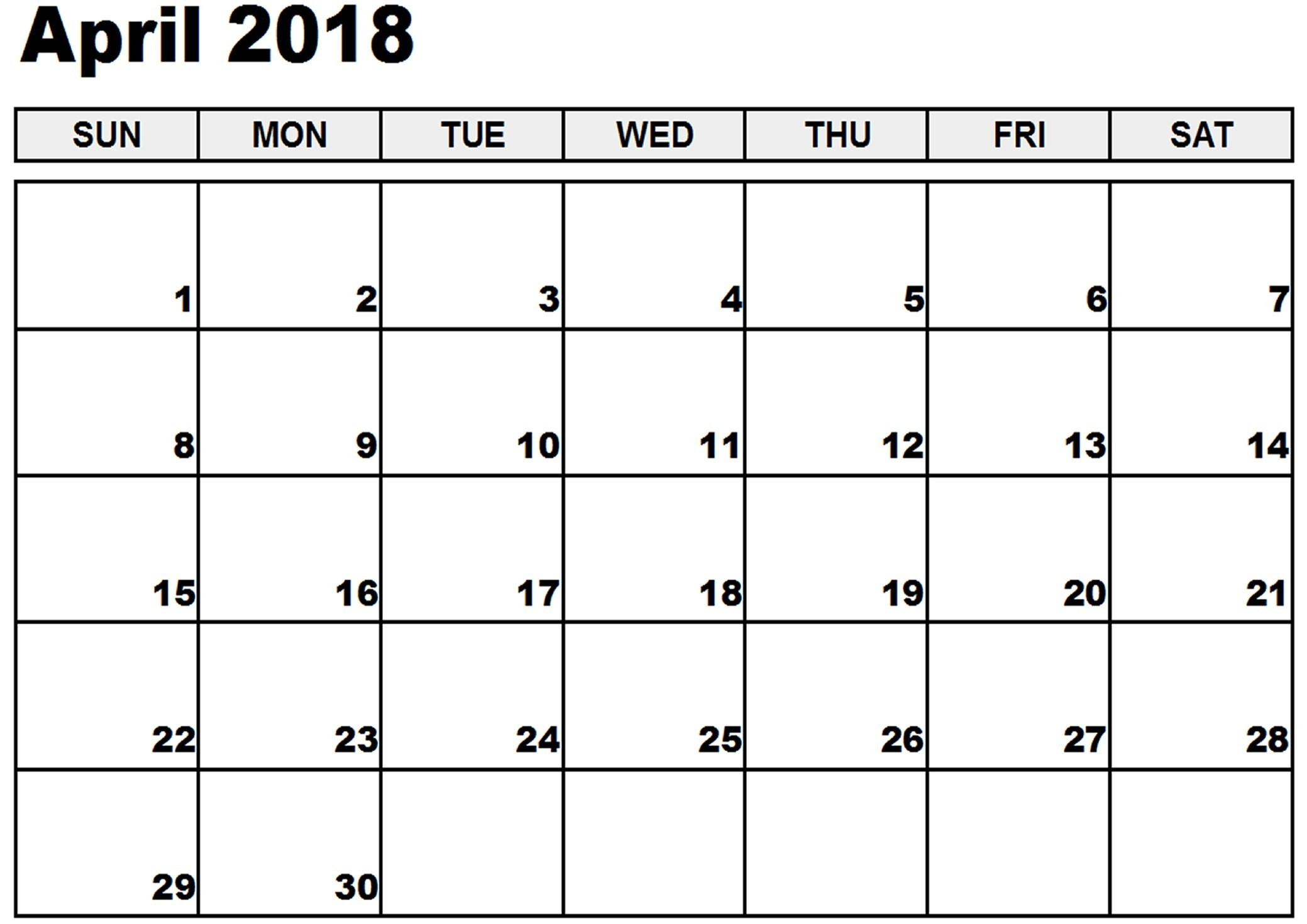 Blank Fill In Calendar 2018 Free Print For Cost-Free – Calendaro in Blank Fill In Calendar