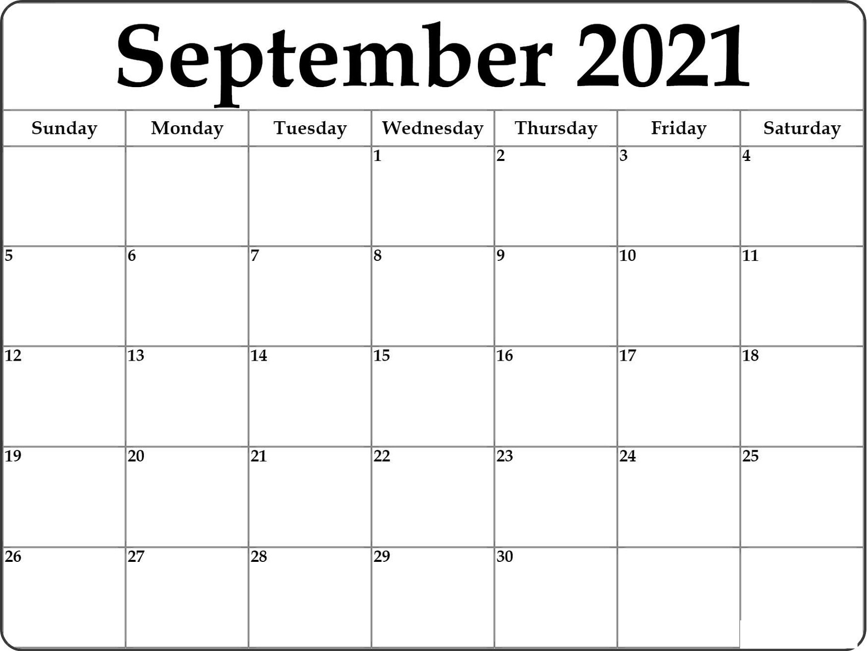 Blank Monthly Calendar 2021 Various Themes   Calendar Shelter with Free Printable September Blank Calendars With Christian Themes