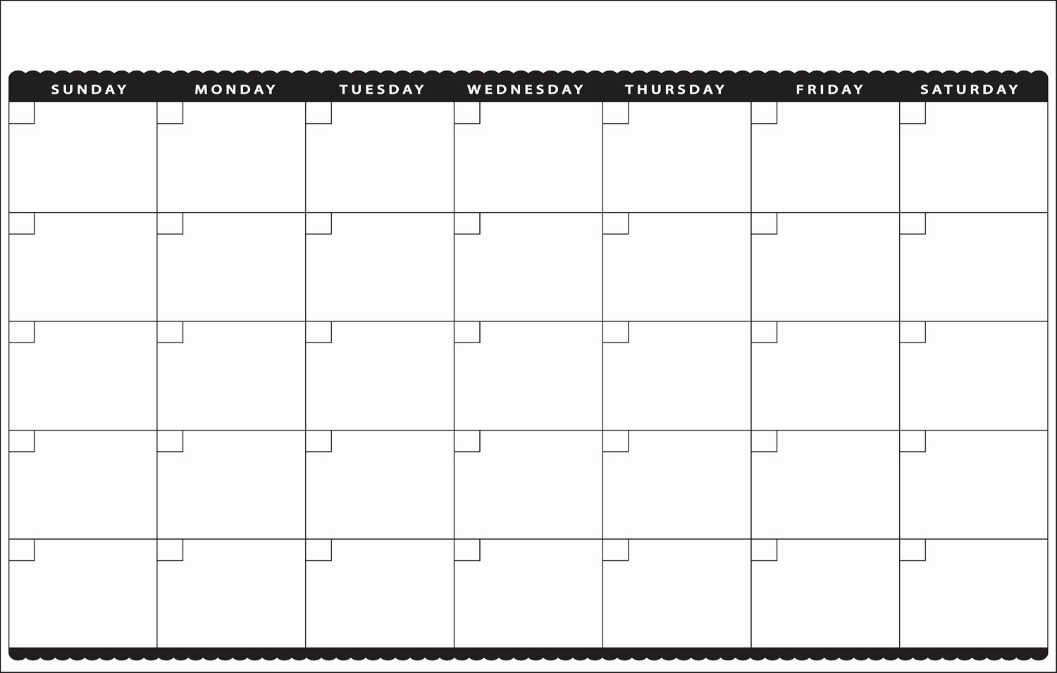 Blank Monthly Calendar Template | Simple Template Design inside Cute Blank Monthly Calendar Template